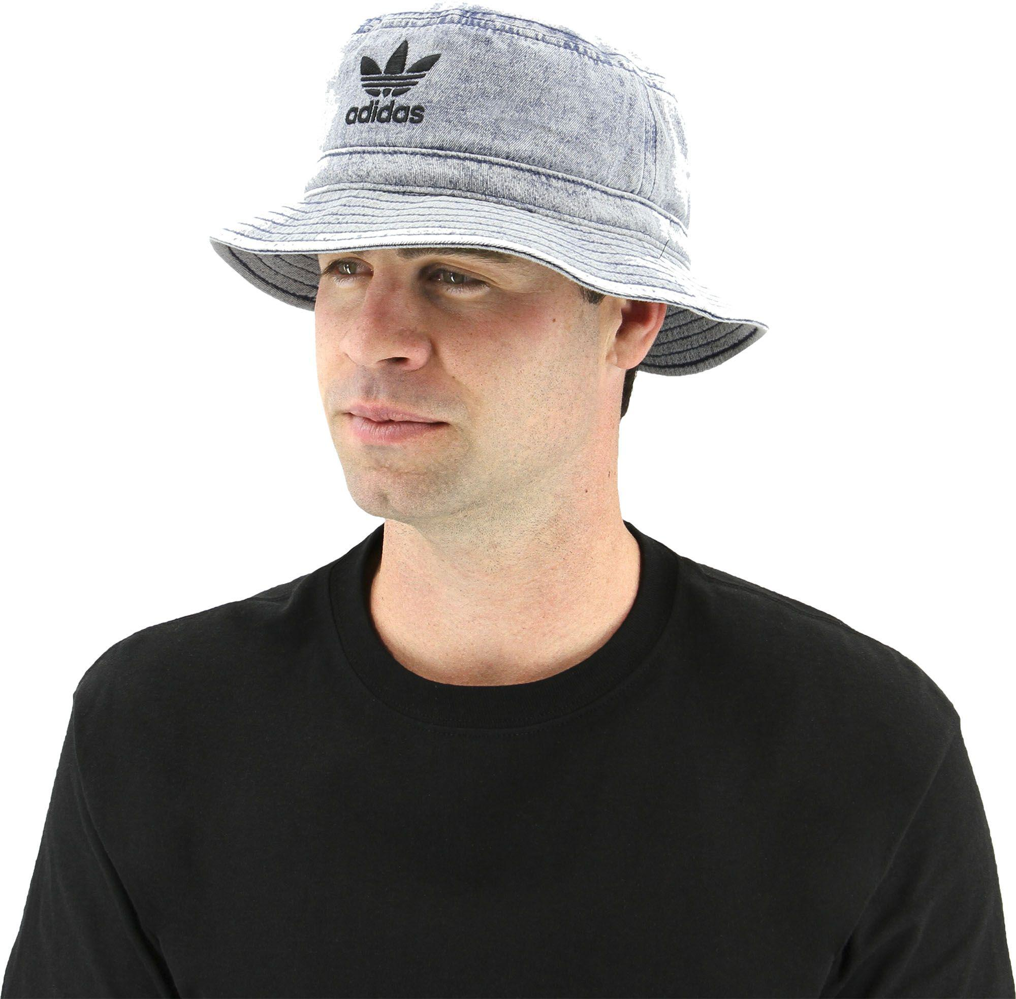 1ad24e11c843 ... where can i buy outlet store sale ecb74 a8220 lyst adidas originals  denim bucket hat in