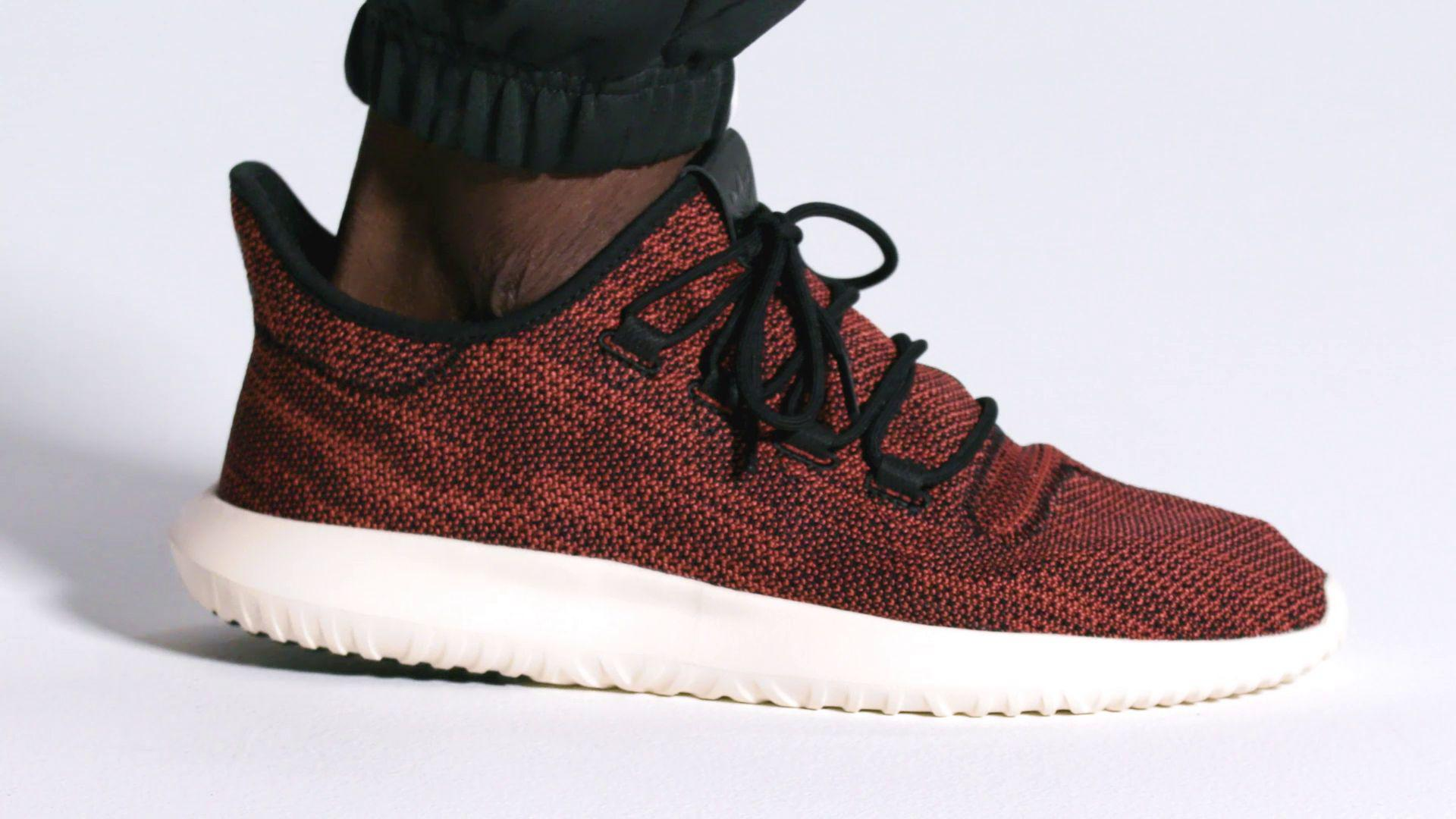 pretty nice 9270f f507a Adidas Originals Red Tubular Shadow Knit Running Shoes for men