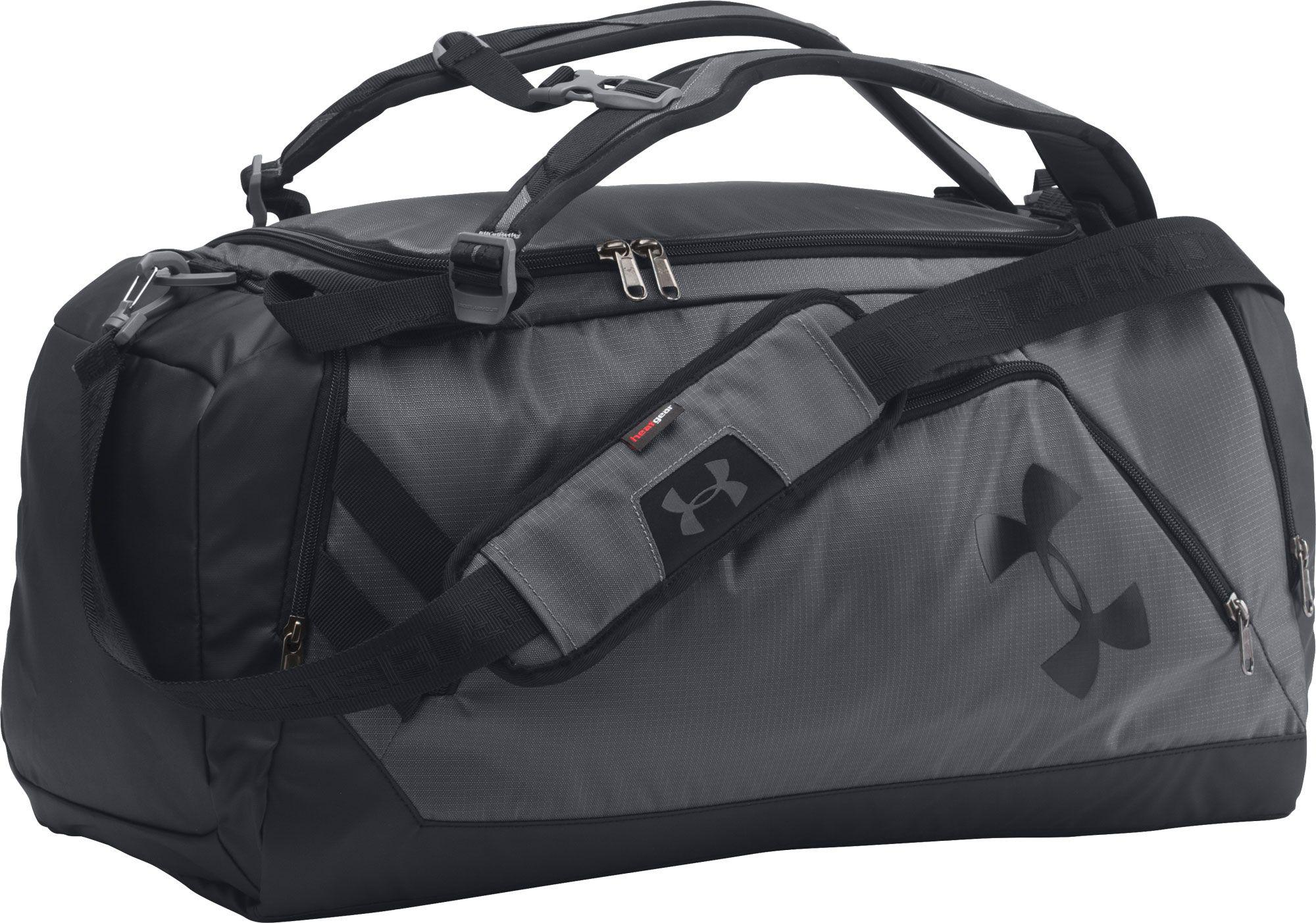 58860b046aaae Under Armour Black Contain Duo Backpack Duffle for men