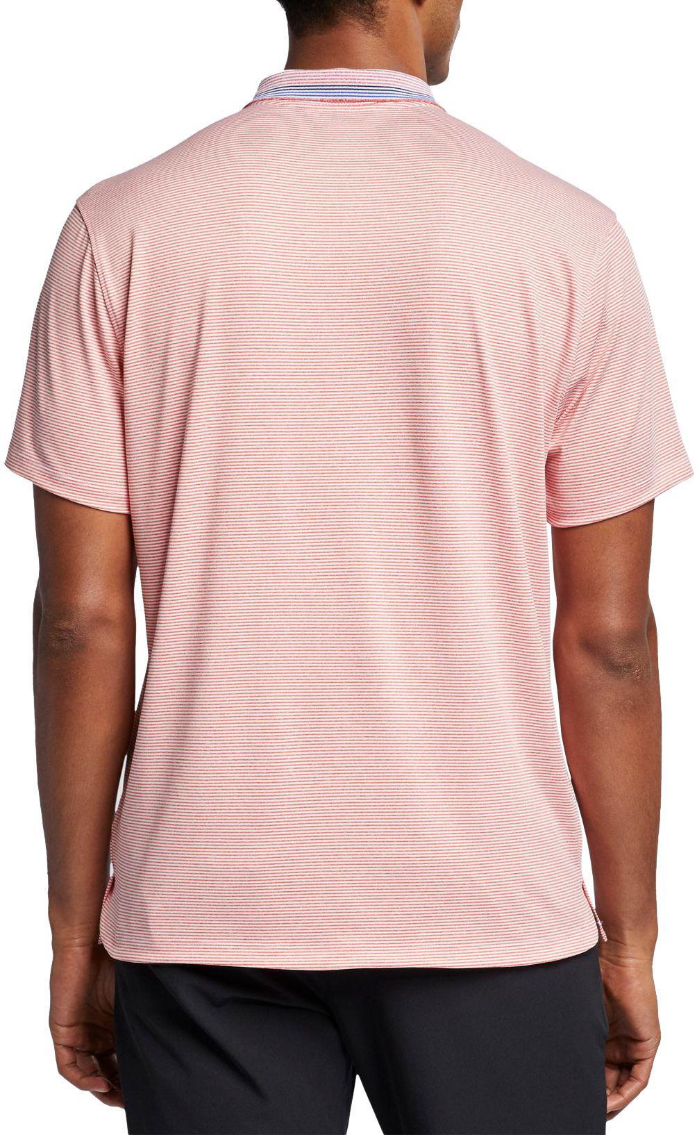 c377de1a2 Nike - Pink Vapor Control Stripe Golf Polo for Men - Lyst. View fullscreen