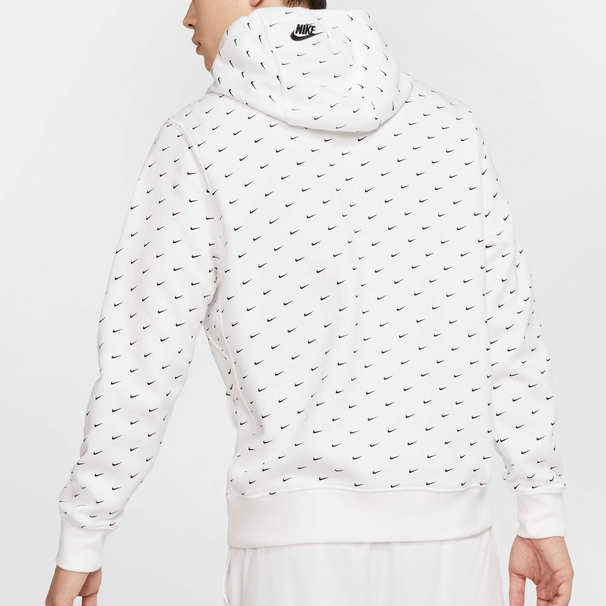 Nike Cotton Swoosh Pullover Hoodie in