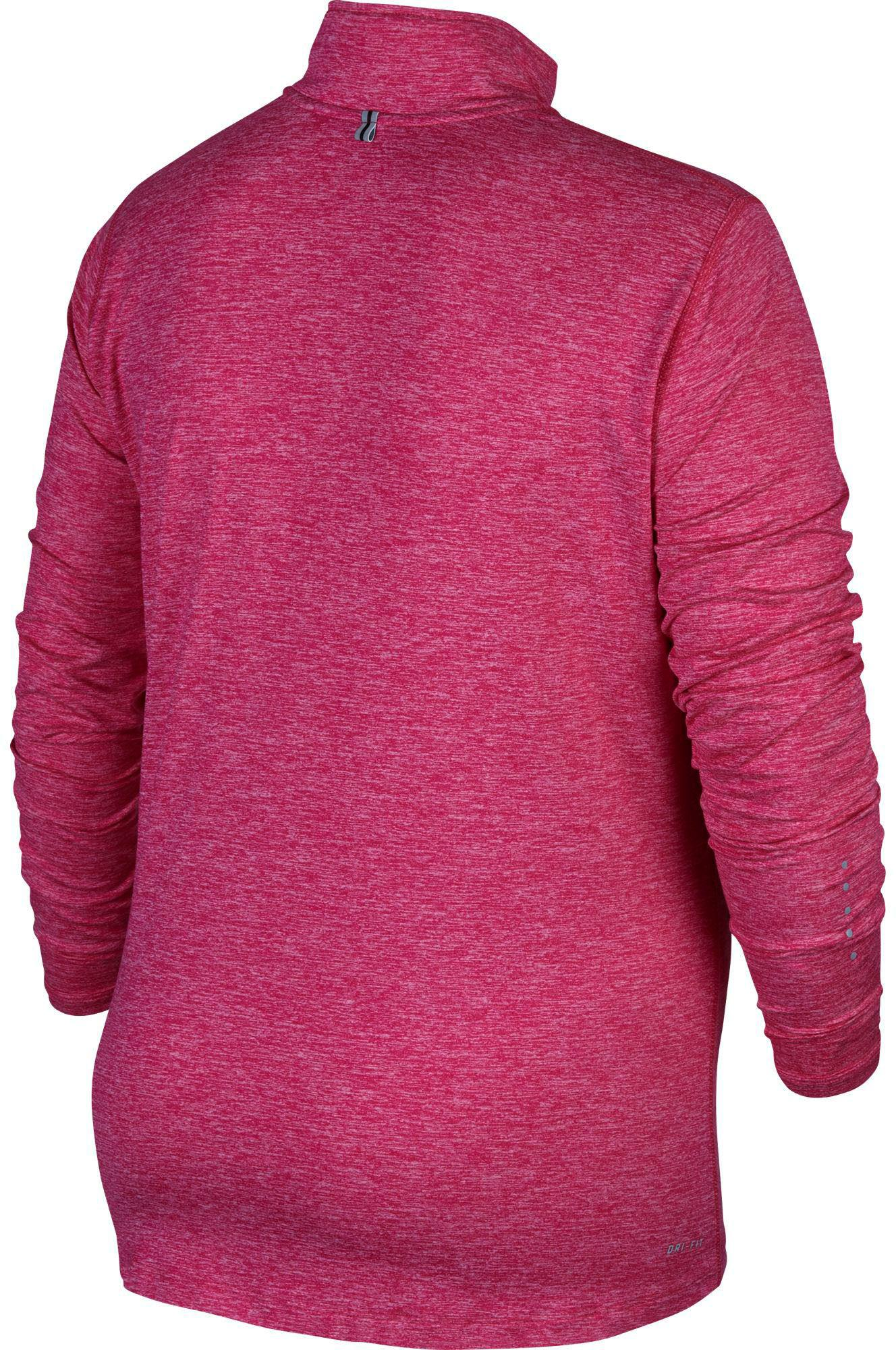 0ae407a6a13 Lyst - Nike Plus Size Element Half Zip Long Sleeve Running Shirt in Pink