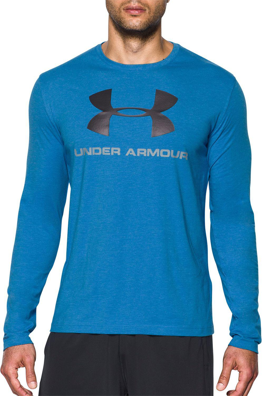 abd60f47 Lyst - Under Armour Sportstyle Logo Long Sleeve T-shirt in Blue for Men