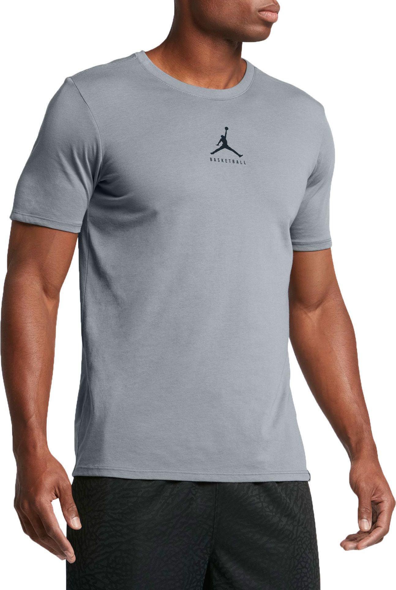 Jordan Dry 23/7 Jumpman Basketball Men's T-Shirts Cool Grey/Black