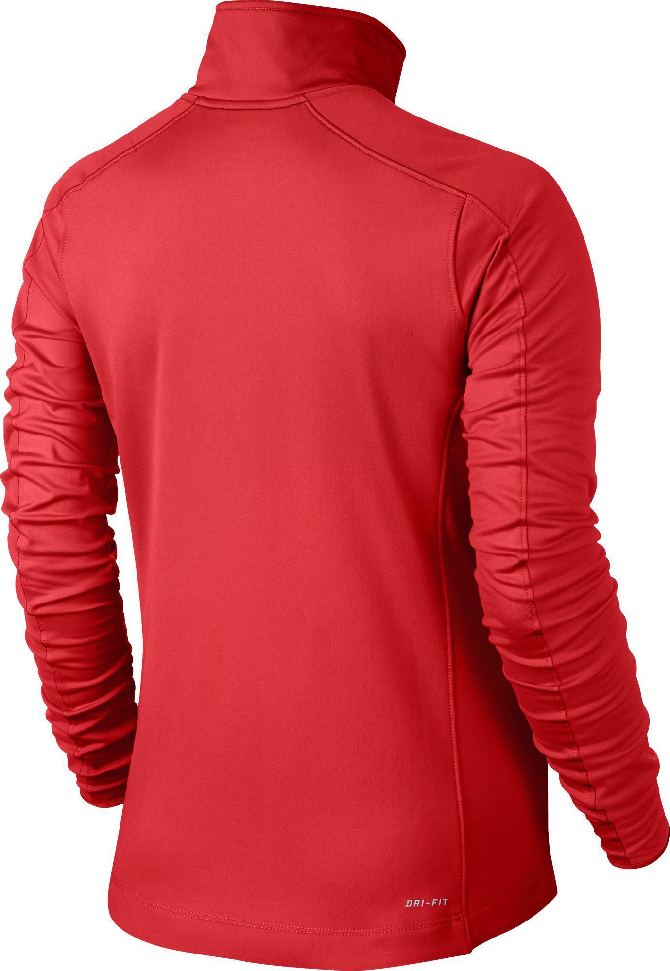 99e2ae13e Nike Red Dri-fit Thermal Full Zip Running Jacket