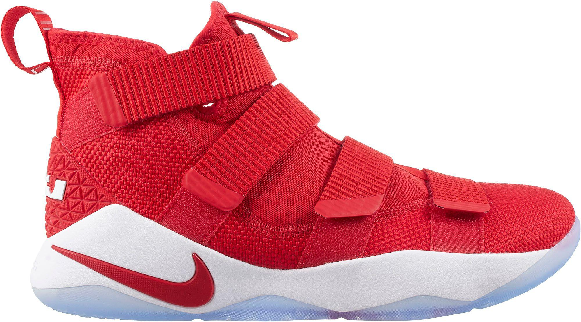 best service e537b 89acc Nike Red Zoom Lebron Soldier Xi Basketball Shoes for men