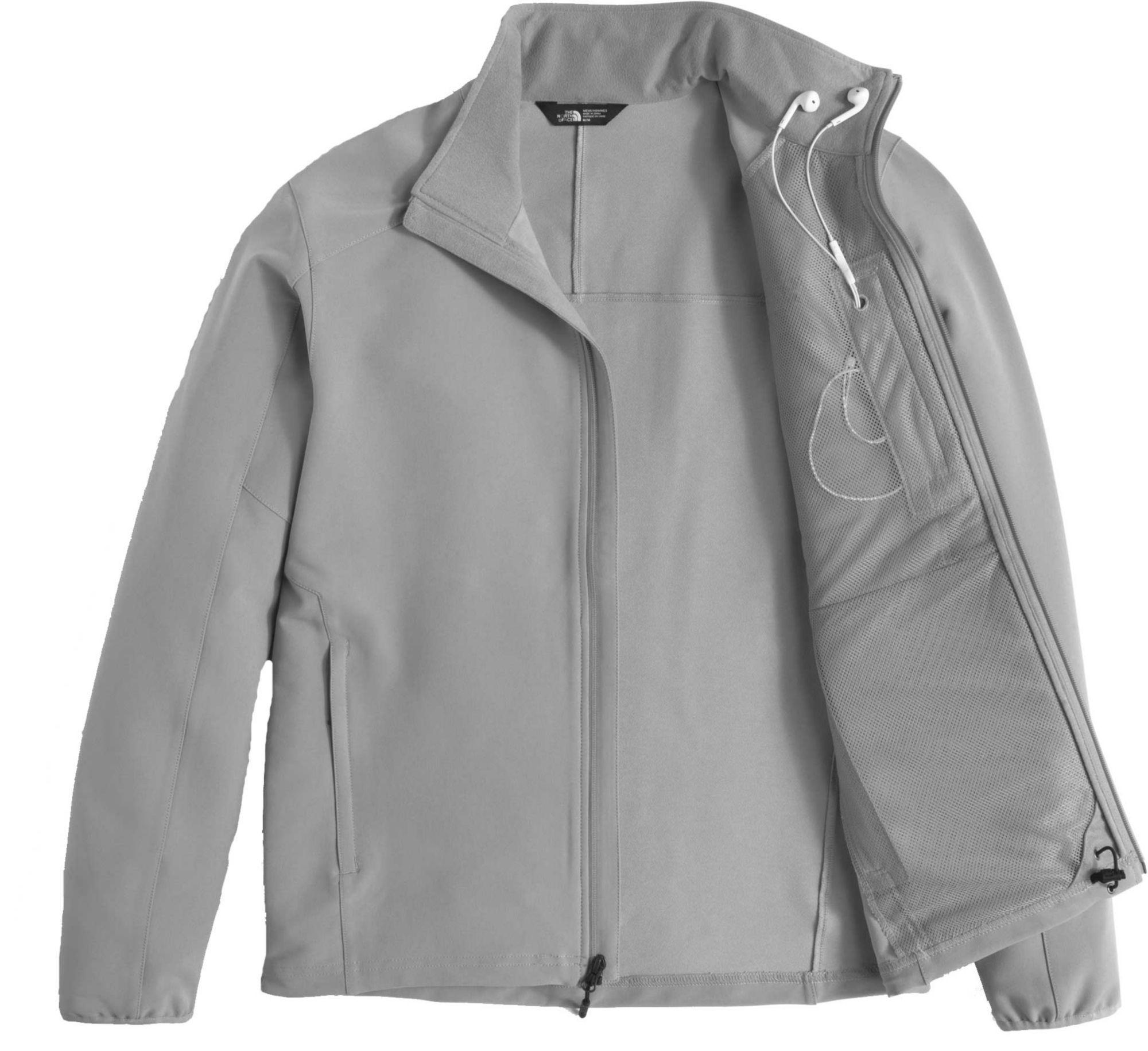 7b3722c35 The North Face Gray Apex Pneumatic Soft Shell Jacket for men