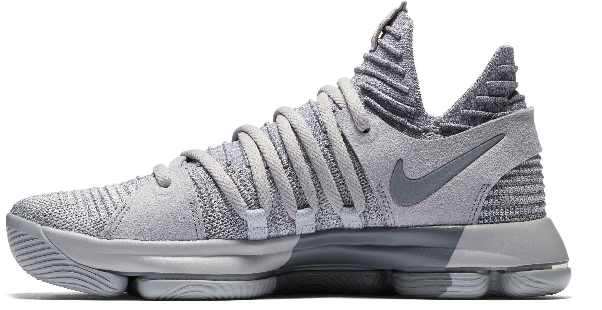 free shipping a2149 016ea Nike Gray Zoom Kd 10 Basketball Shoes for men