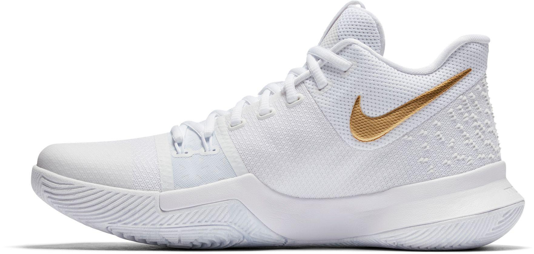 99d05780d844 Nike Kyrie 3 Basketball Shoes in White for Men - Lyst