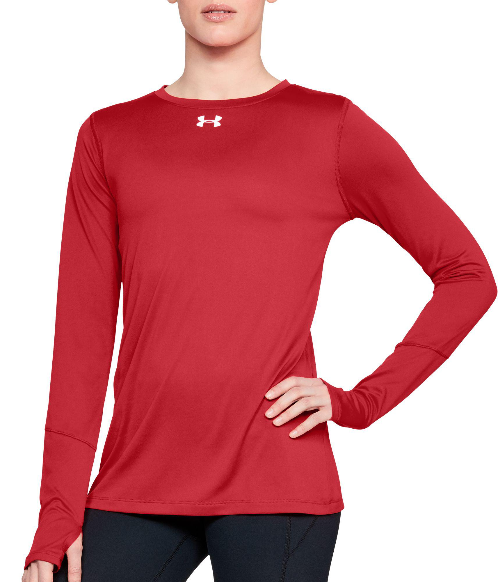 87fc0e03d91a Lyst - Under Armour Locker 2.0 Long Sleeve Shirt in Red