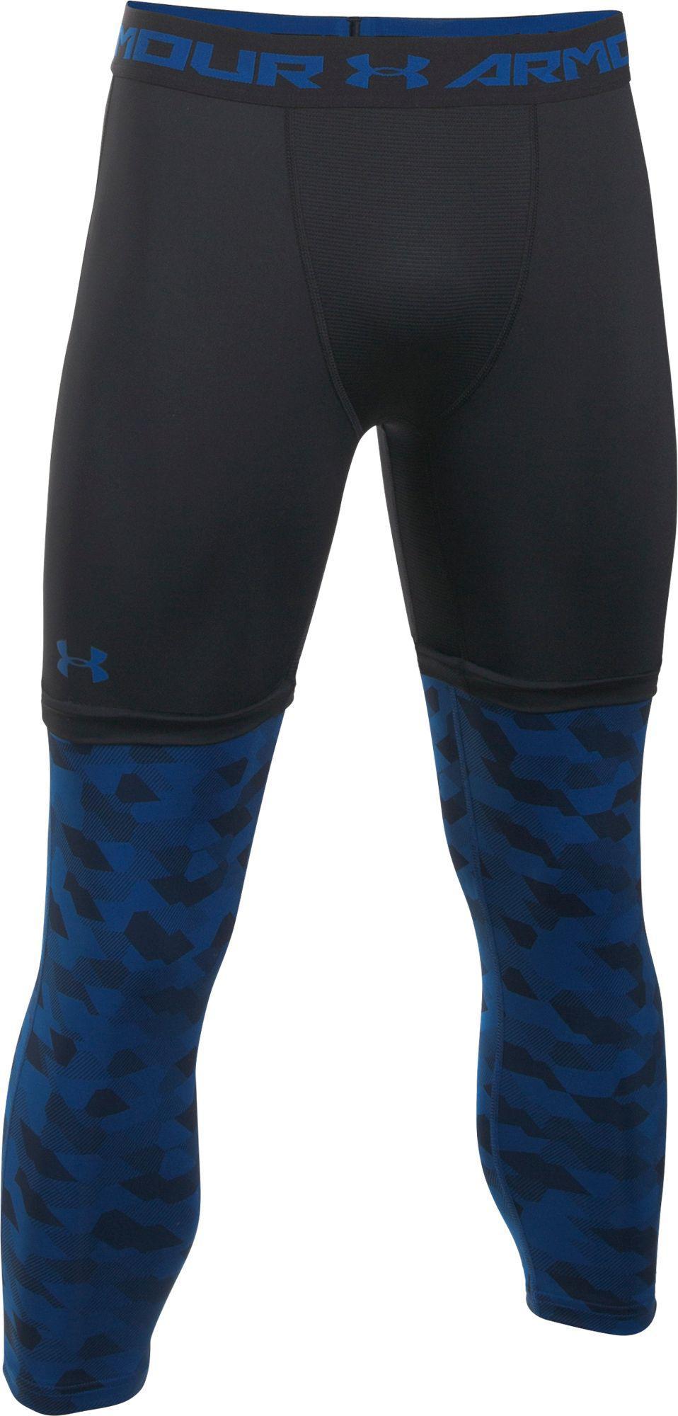 Under Armour Synthetic Sc30 Three Quarter Length Basketball Leggings In Black For Men Lyst