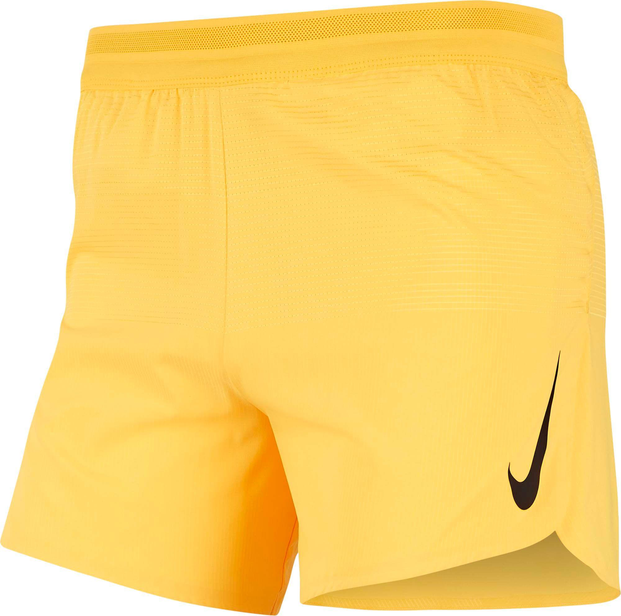 Nike Yellow Aeroswift 5'' Running Shorts for men