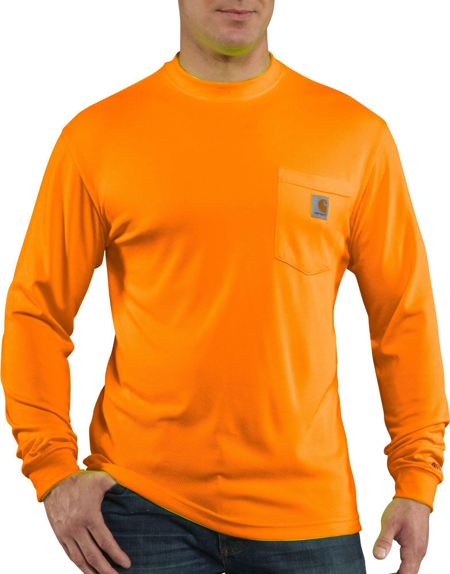 5575c5091 Lyst - Carhartt Force Color Enhanced Long Sleeve Shirt in Orange for ...