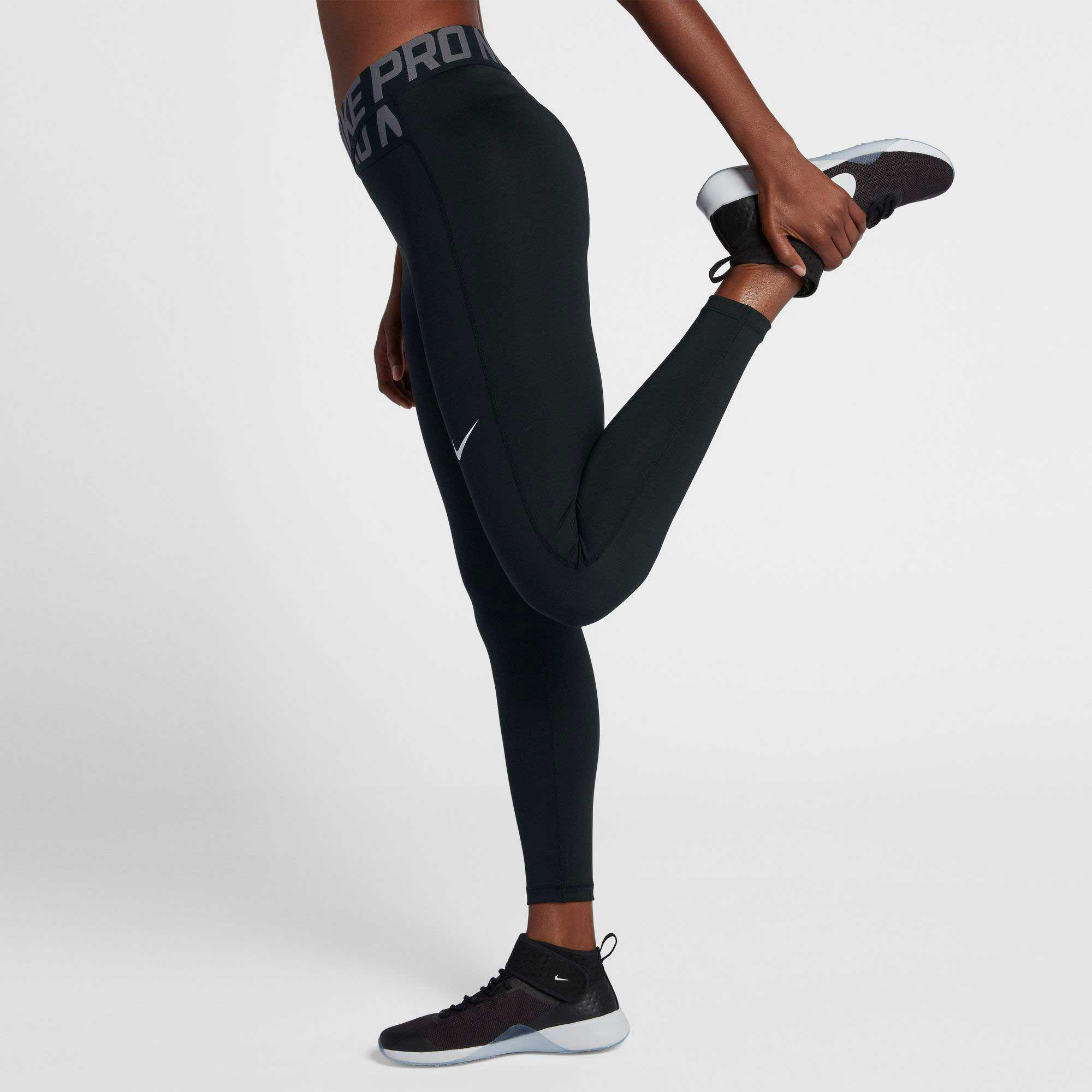 e703f53b9b79a2 Nike Pro Intertwist 7/8 Training Tights in Black - Lyst