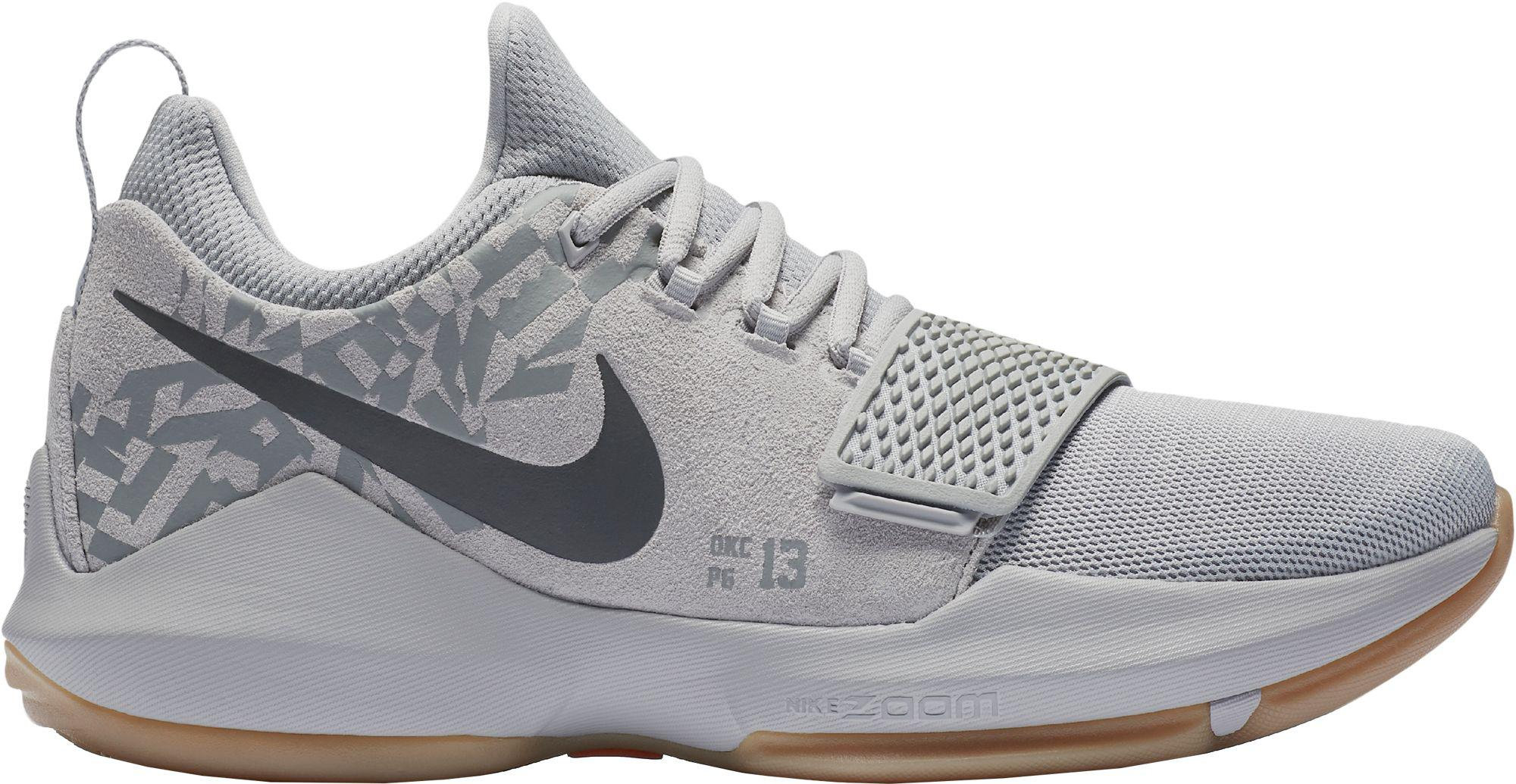 Nike Pg 1 Basketball Shoes In Gray For Men