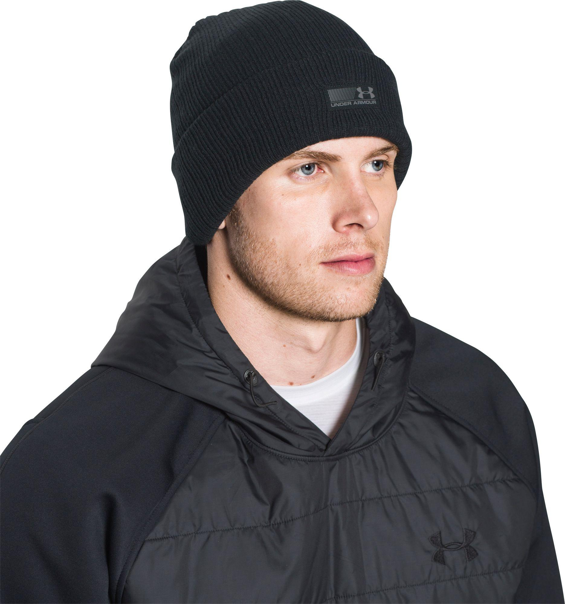 16a8b192e Under Armour Black Truck Stop Beanie for men
