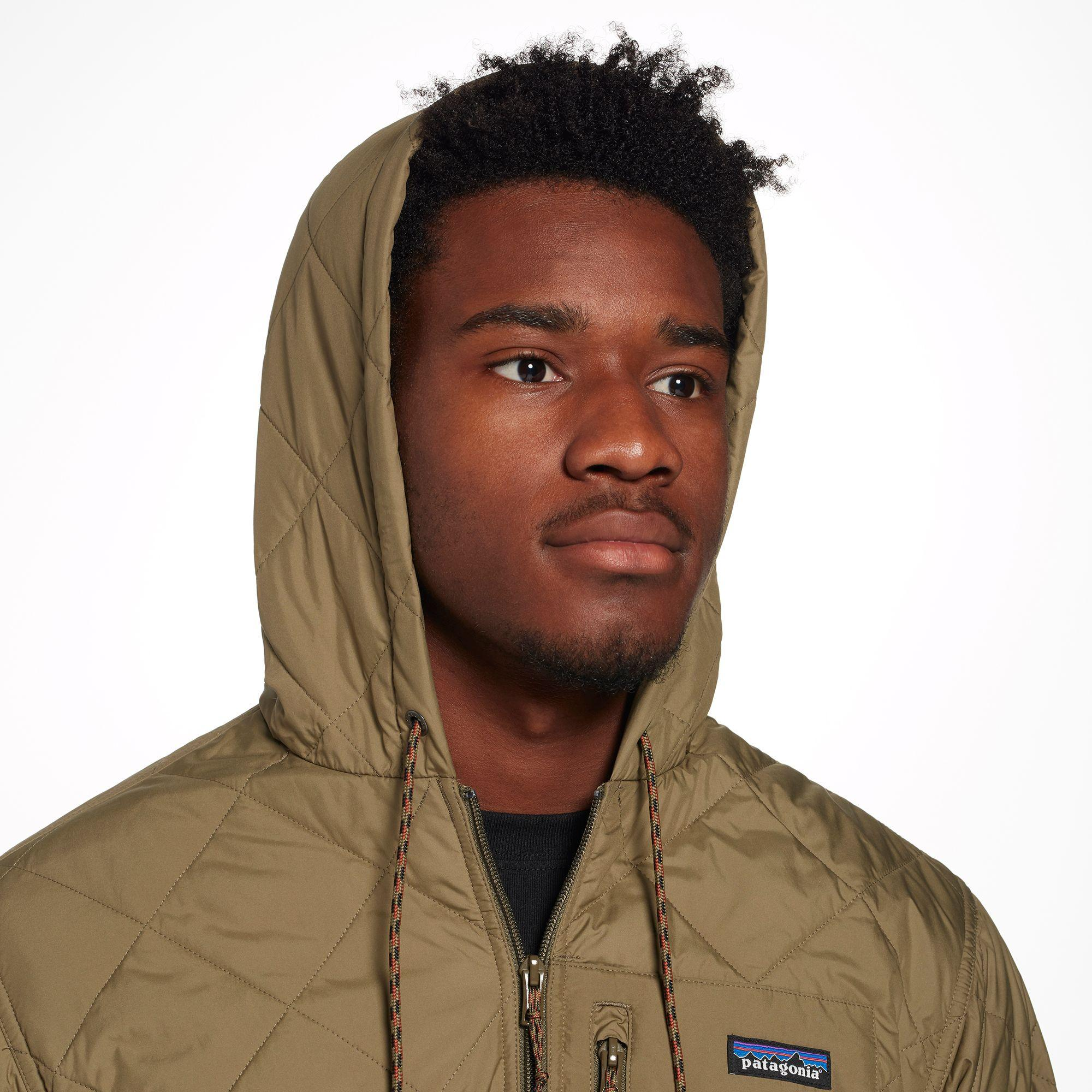 Patagonia Diamond Quilted Bomber Hoodie For Men