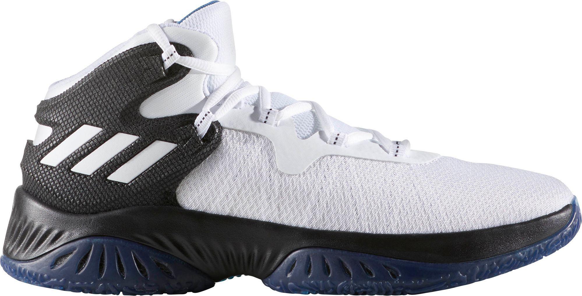 lyst adidas esplosivo rimbalzare scarpe da basket in bianco per gli uomini.