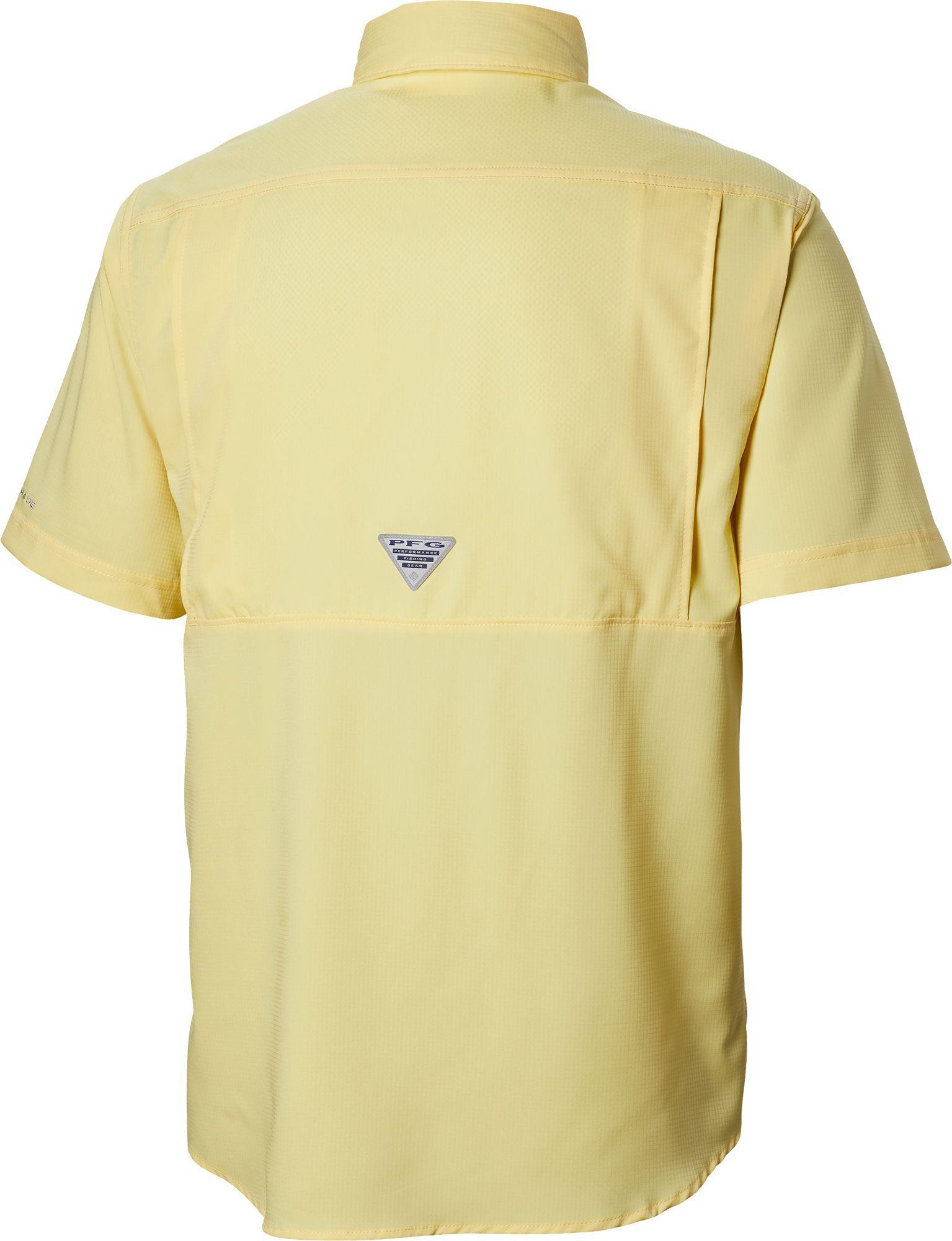 2082636ad9a Columbia - Yellow Pfg Low Drag Offshore Short Sleeve Shirt for Men - Lyst.  View fullscreen