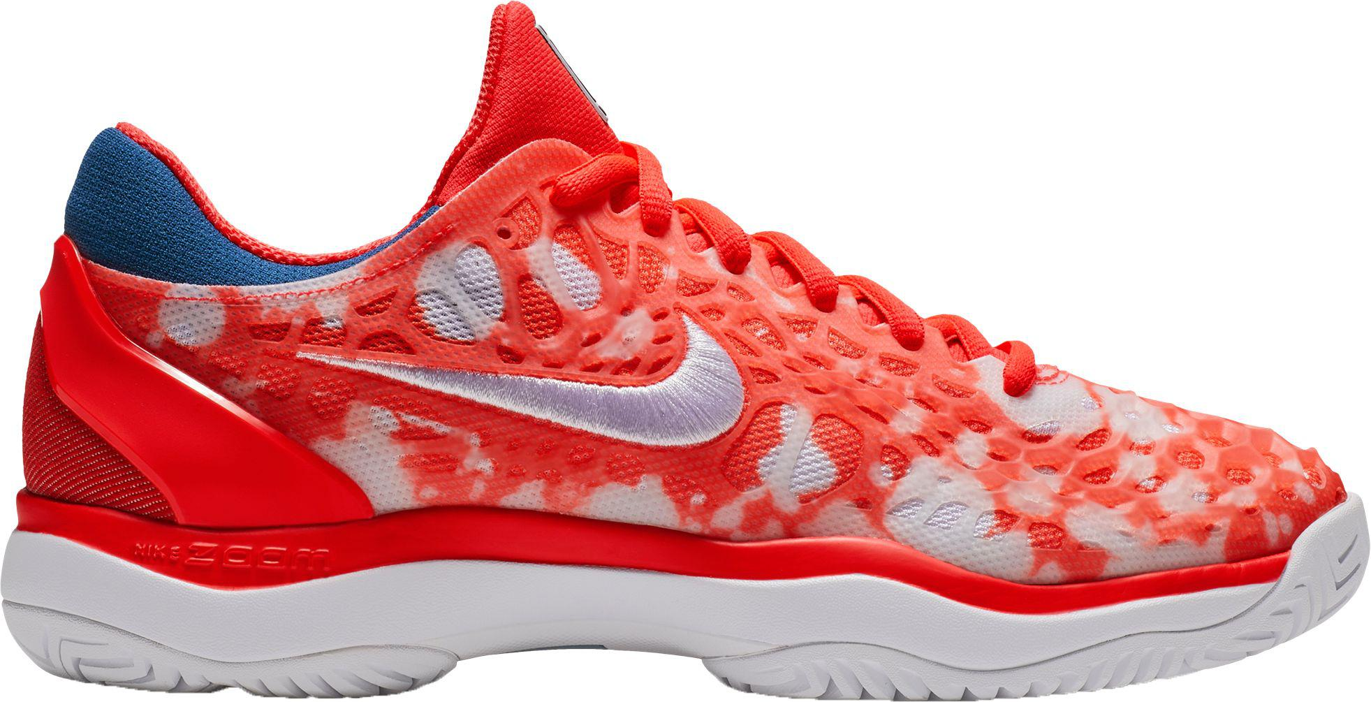 578ec1d174f0b Lyst - Nike Court Air Zoom Cage 3 Premium Tennis Shoe in Red