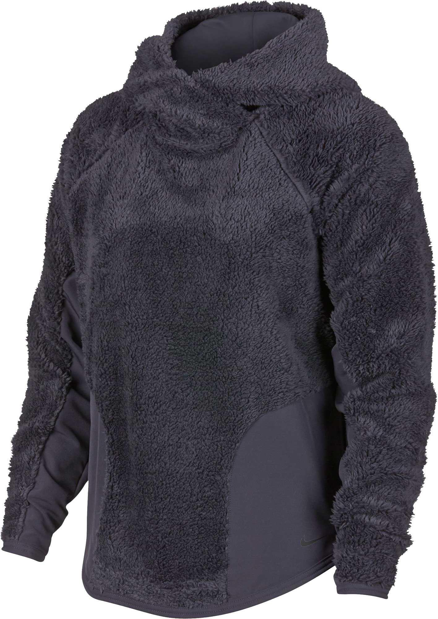 Nike Womens Sherpa Therma Fleece Training Hoodie