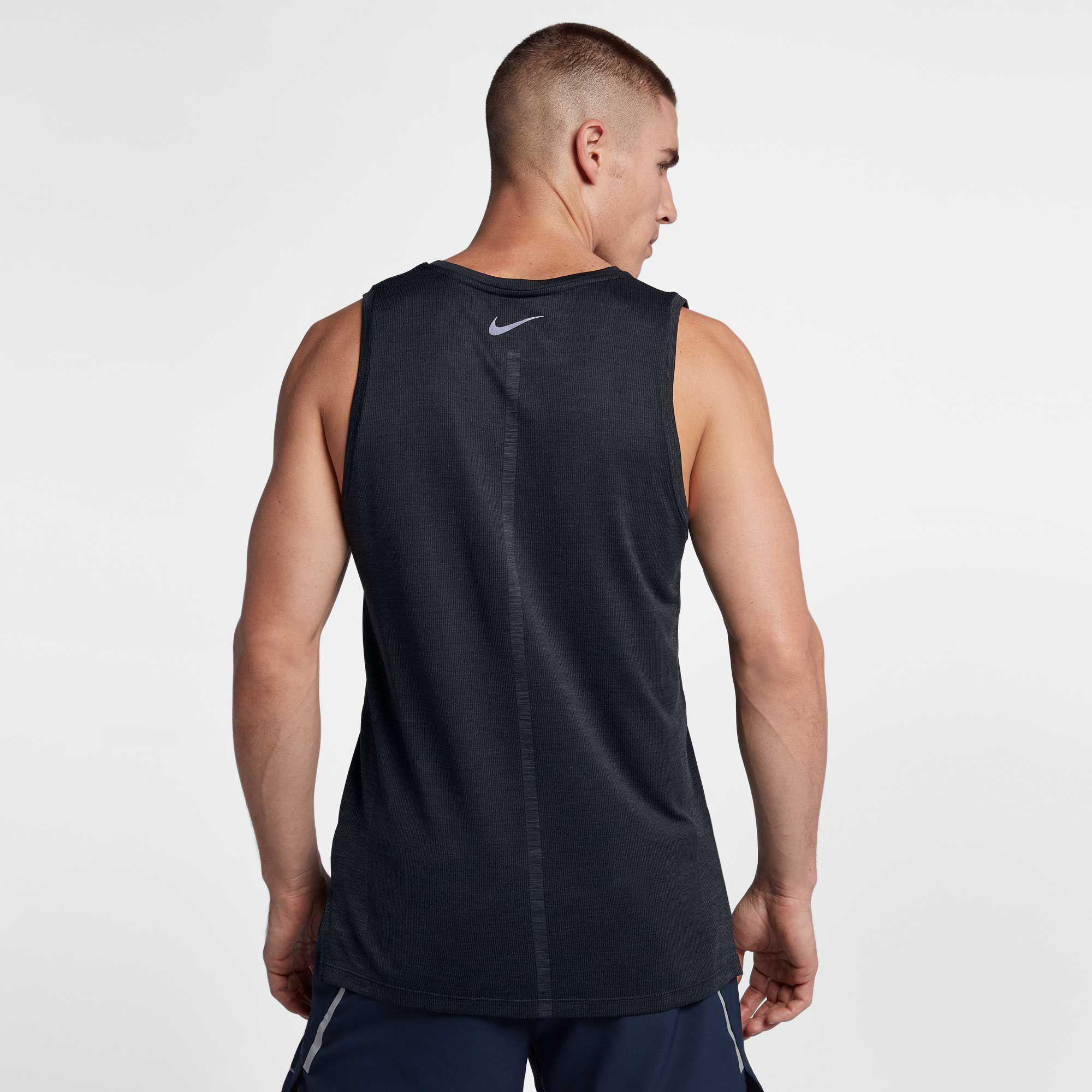 df370599905a71 Nike - Black Dri-fit Medalist Men s Running Tank for Men - Lyst. View  fullscreen