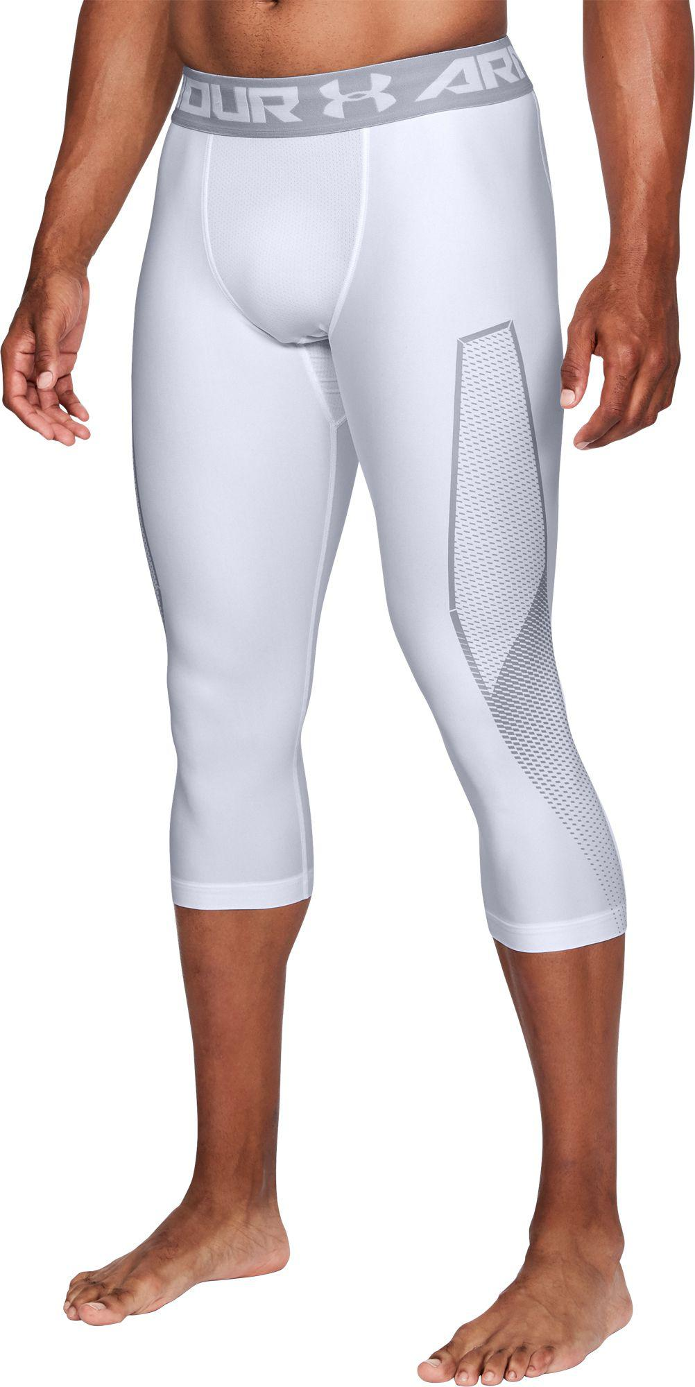 6395f46a2a631a Under Armour - Gray Heatgear Armour Graphic 3/4 Length Tights for Men - Lyst
