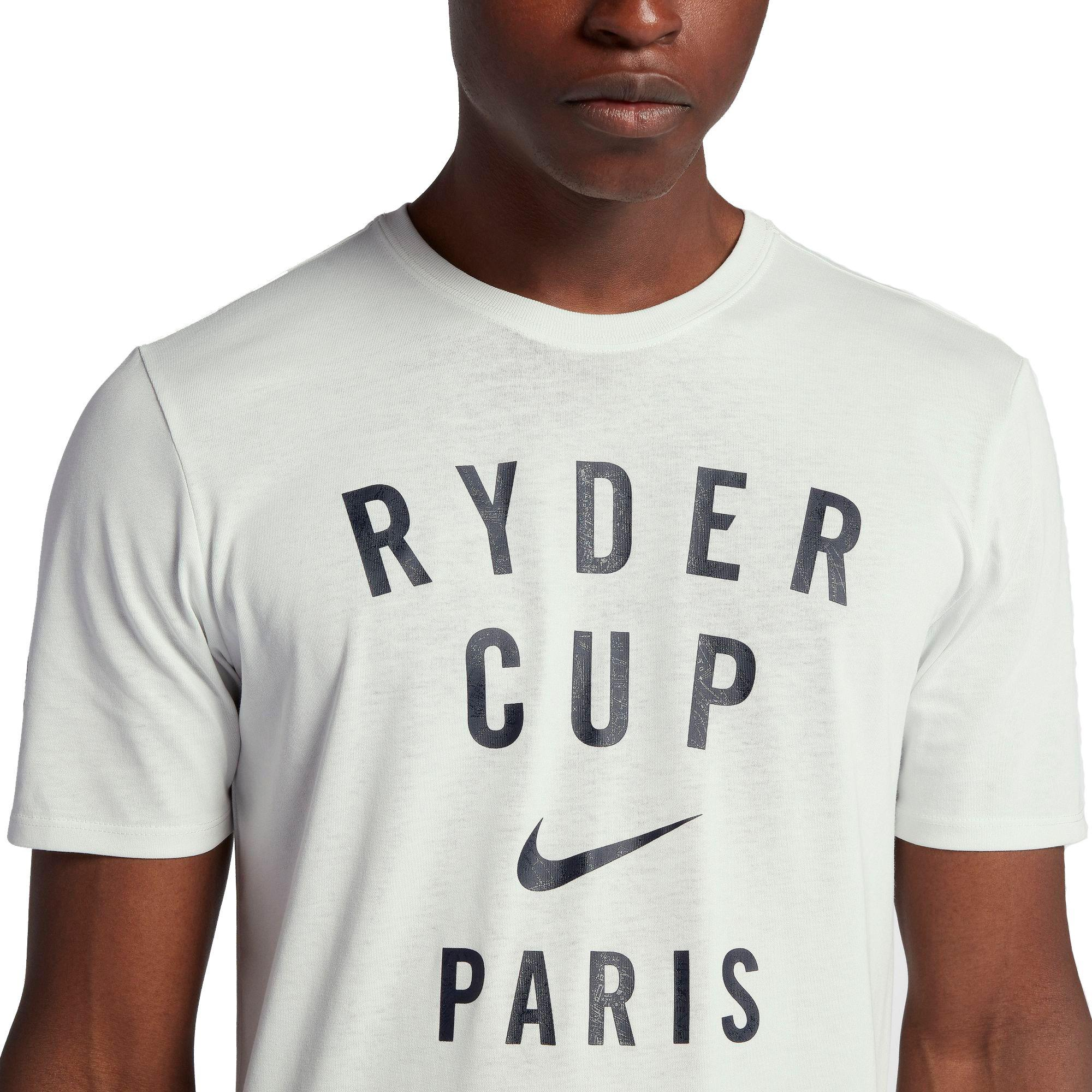 new york dca57 278b3 Nike White Therma Ryder Cup Golf T-shirt for men