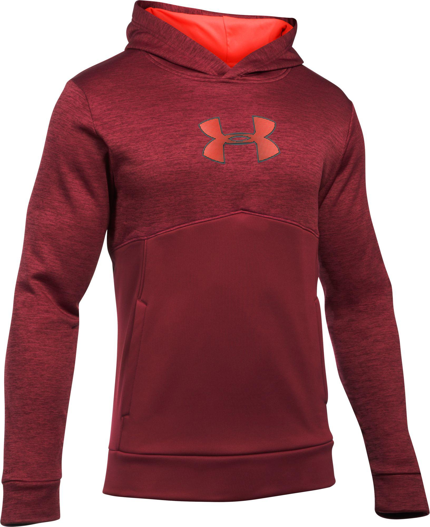 0f40b8f76 Under Armour Storm Armour Fleece Logo Twist Hoodie in Red for Men - Lyst