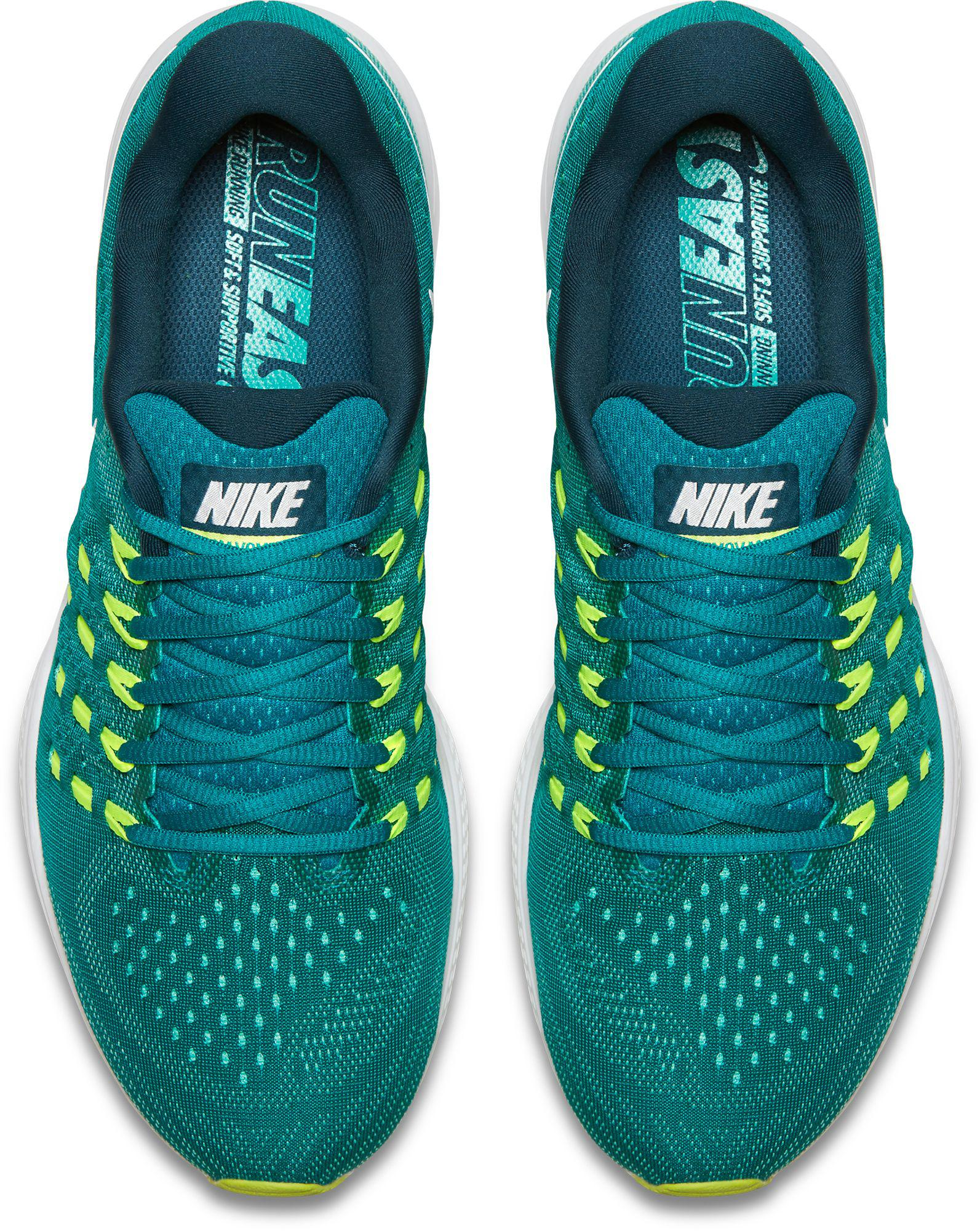pretty nice 9e692 be064 Nike Green Air Zoom Vomero 11 Running Shoes for men
