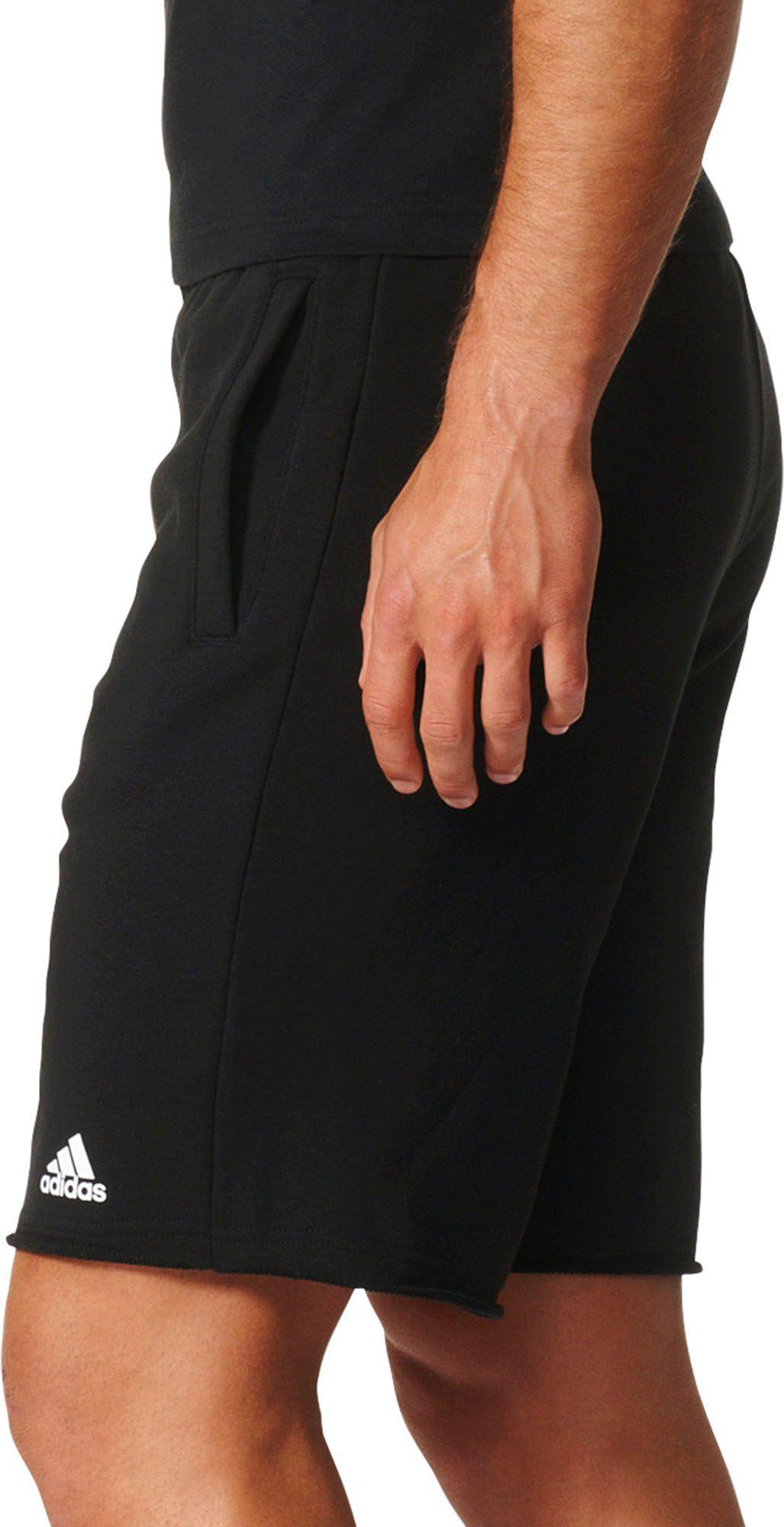 d07d05a010 Adidas Black Essentials Raw-edged Sweat Shorts for men
