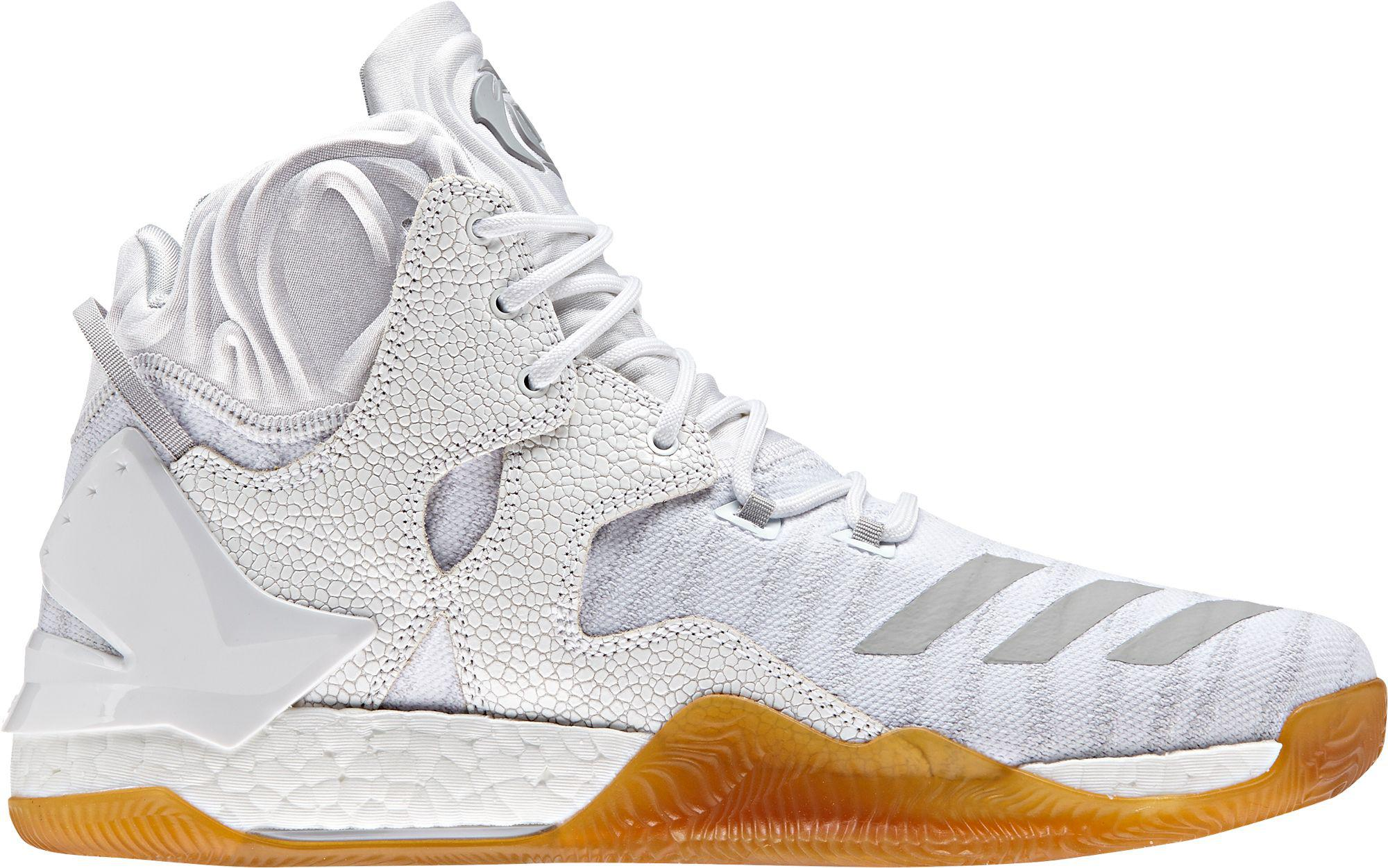 de468ab30802 ... inexpensive lyst adidas d rose 7 boost basketball shoes in white for men  b8ec1 d3e6a