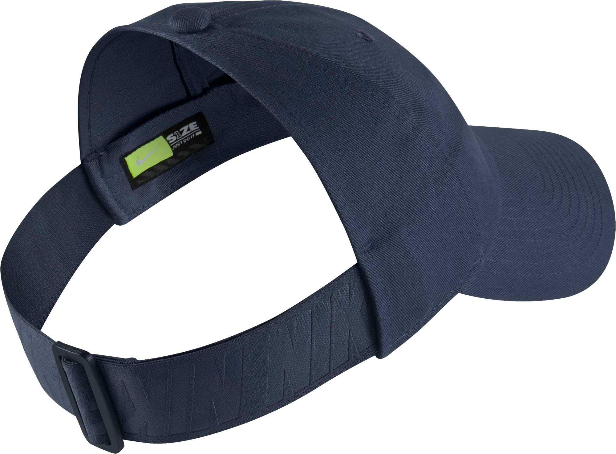 Lyst - Nike Sportswear Open Back Visor Hat in Blue 24bb7b5734f