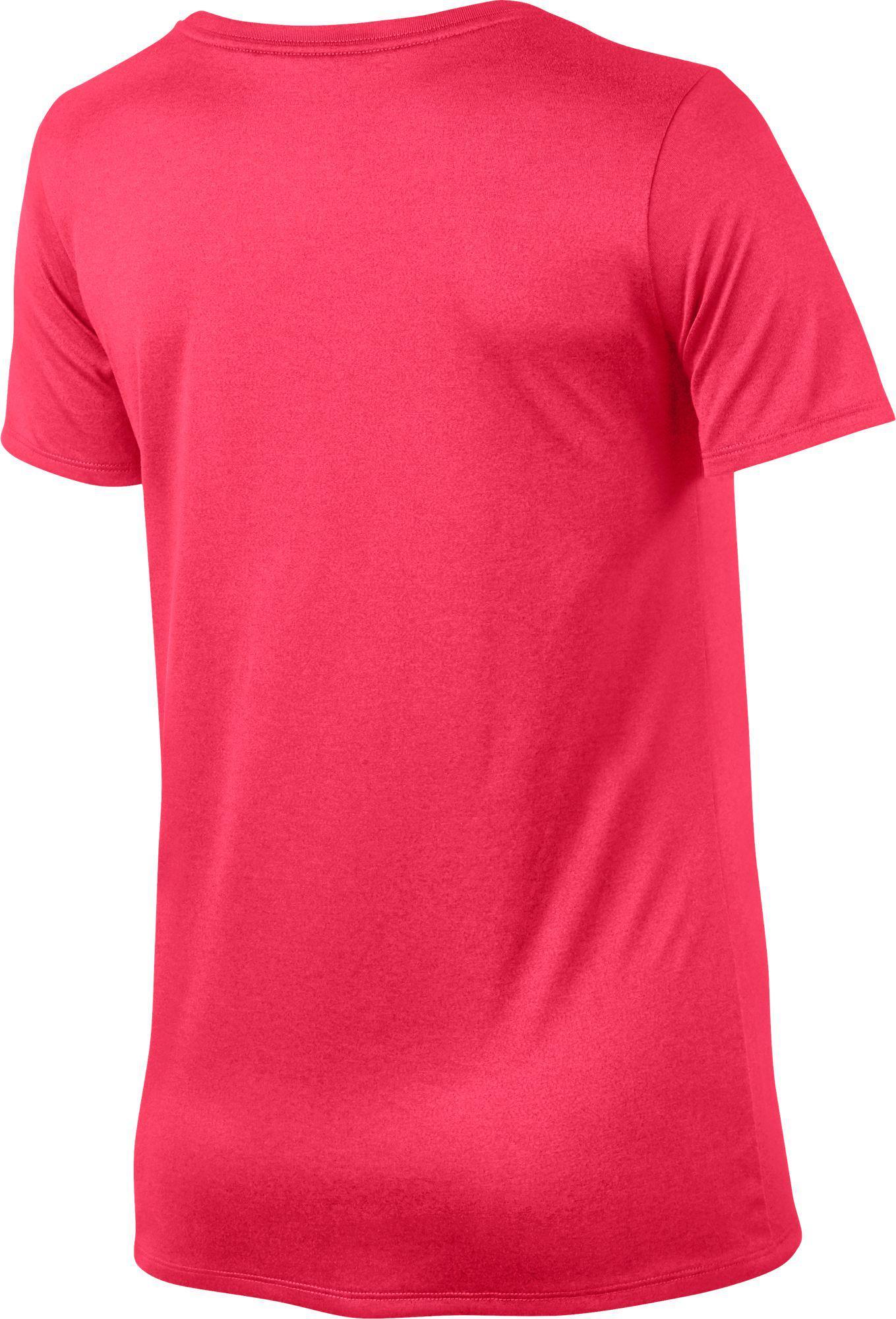 131341e8ea5a Nike - Pink Woman s Dry Legend Training T-shirt - Lyst. View fullscreen