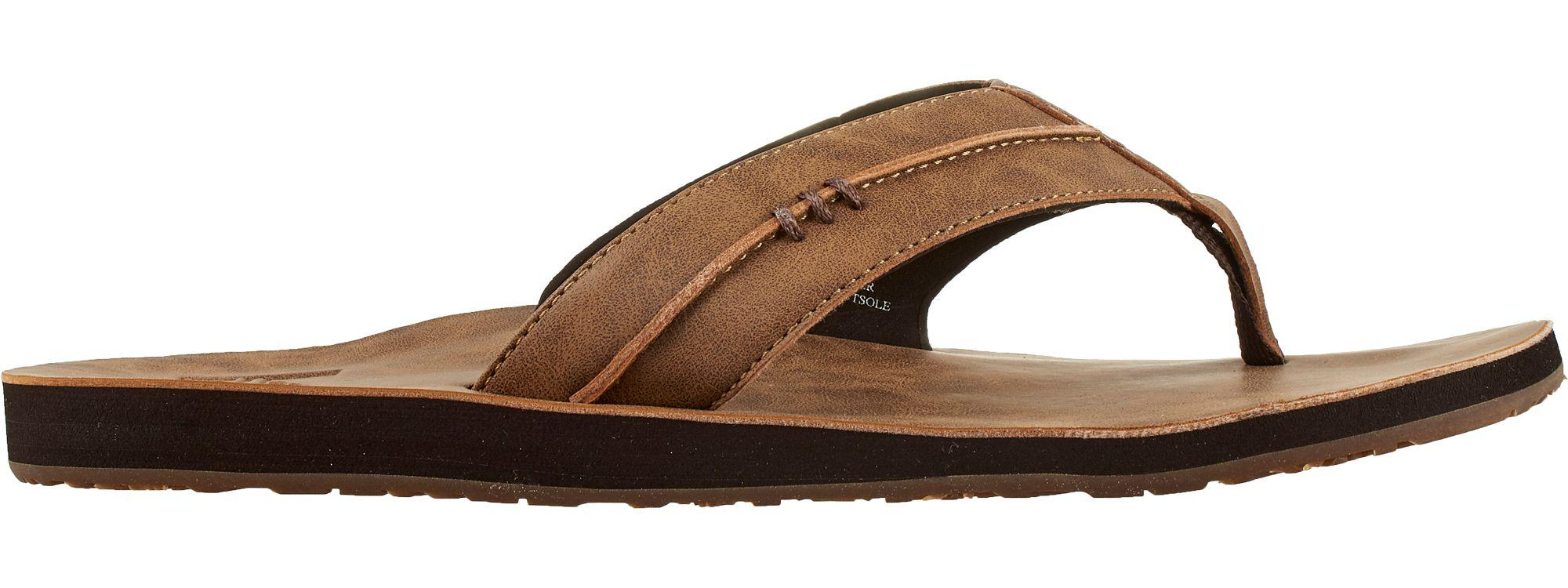 206685928 Lyst - Reef Marbea Synthetic Leather Sandals in Brown for Men