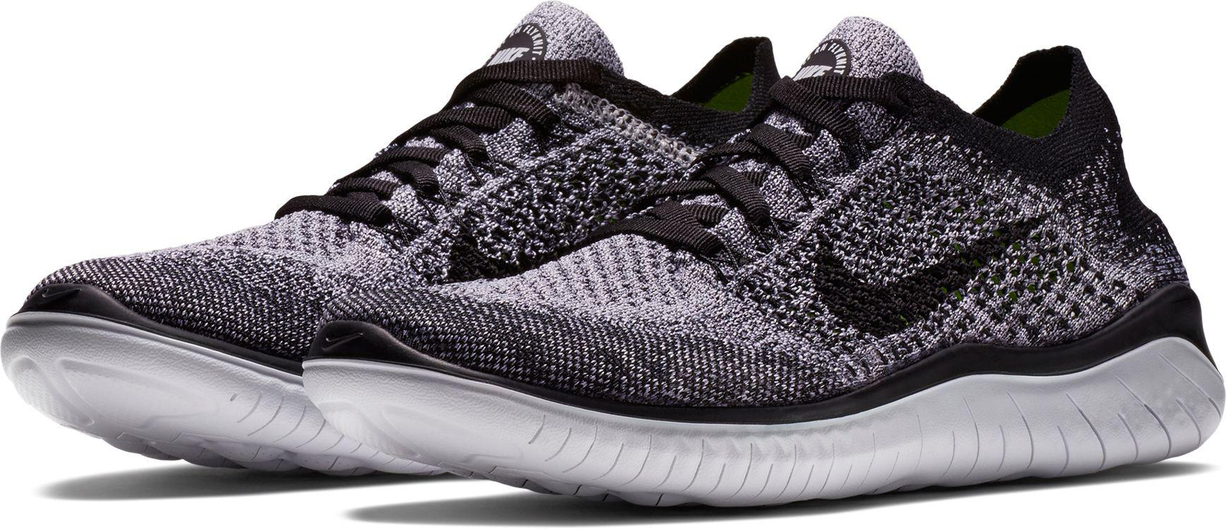 Nike Free Rn Flyknit 2018 Running Shoes in White/Black (Black) - Save 43% -  Lyst