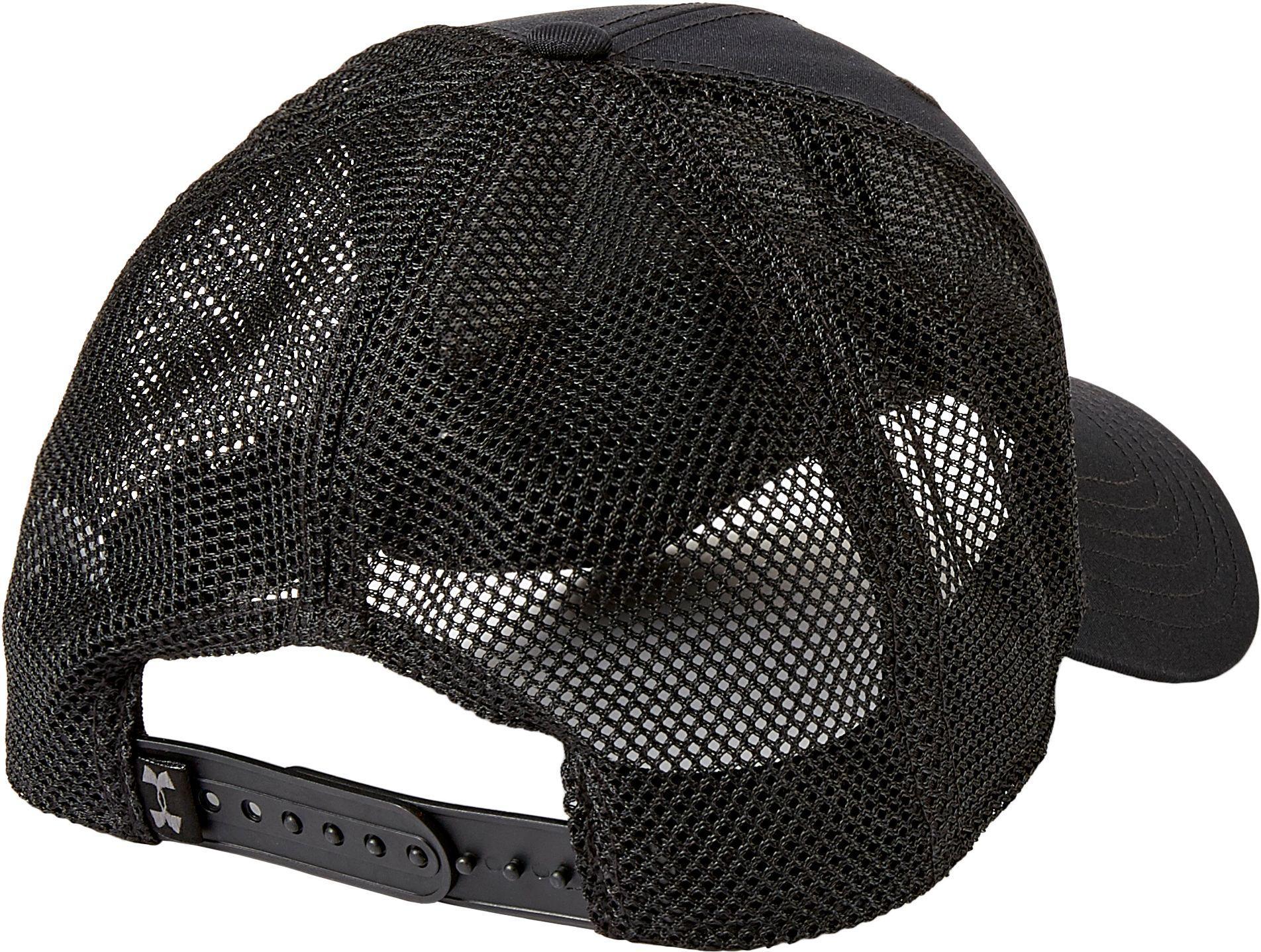 Lyst - Under Armour Project Rock Trucker Hat in Black for Men 1e309a6dd9b