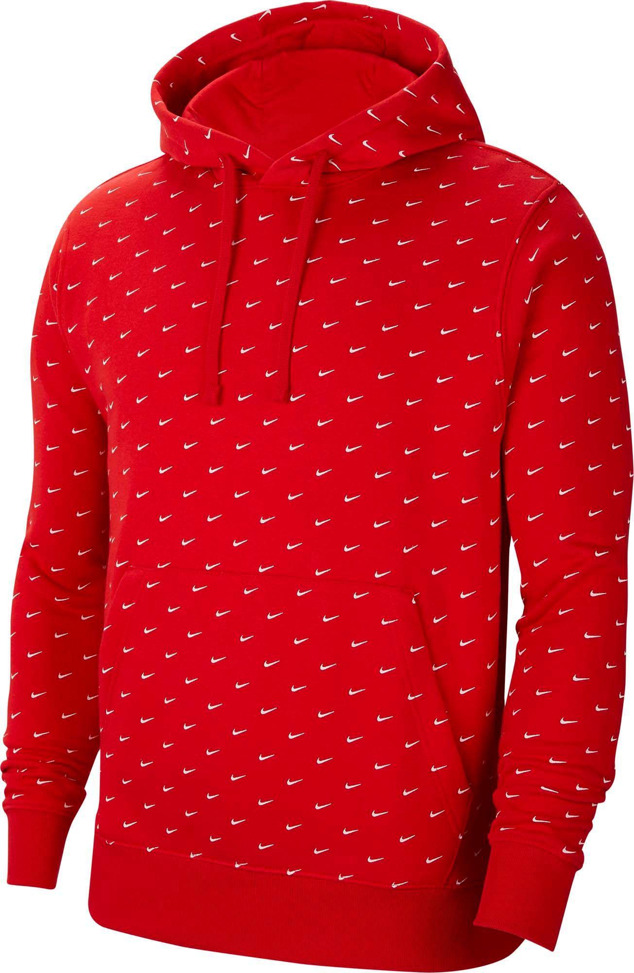 nike swoosh hoodie red