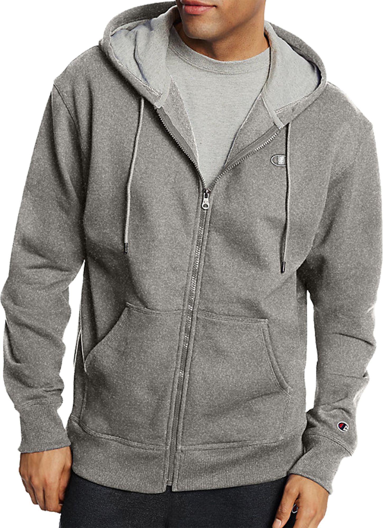 fac0cef1200d Lyst - Champion Powerblend Full Zip Fleece Hoodie in Gray for Men
