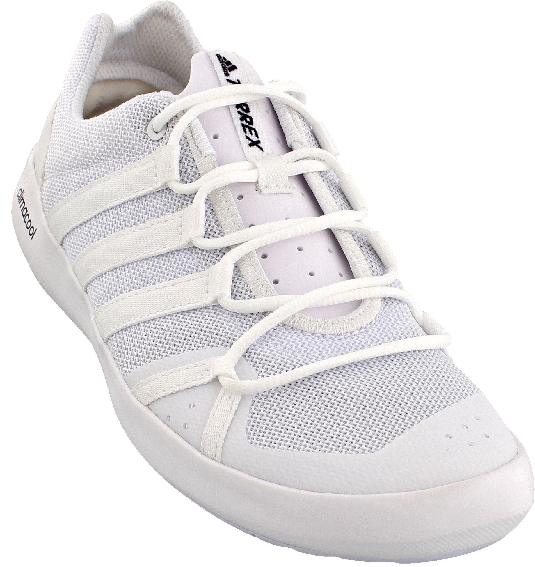 super popular f6756 bc9d7 Men's White Outdoor Terrex Climacool Boat Sleek Water Shoes