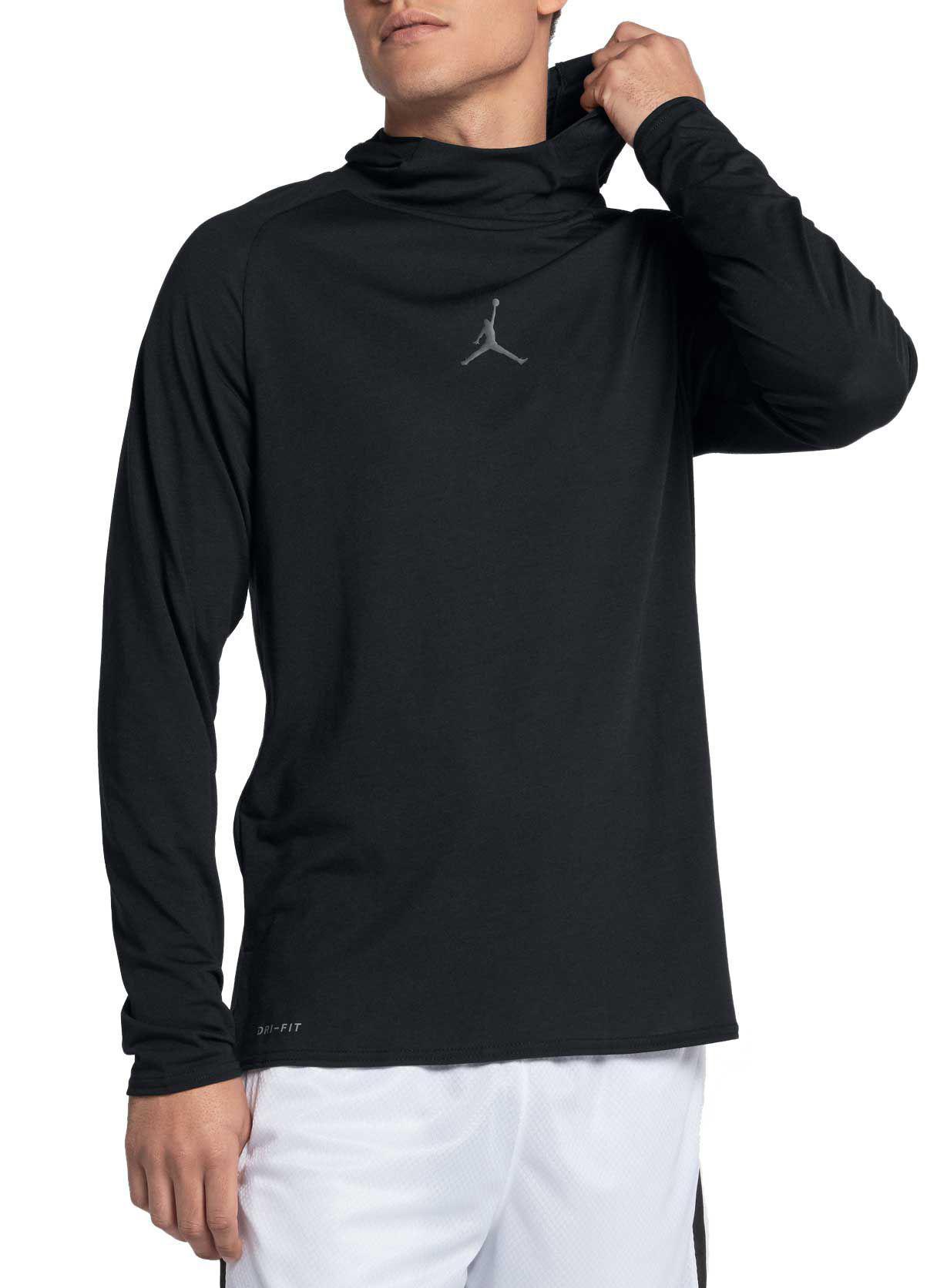 08e9a028 Nike Dry 23 Alpha Training Hooded Long Sleeve Shirt in Black for Men ...