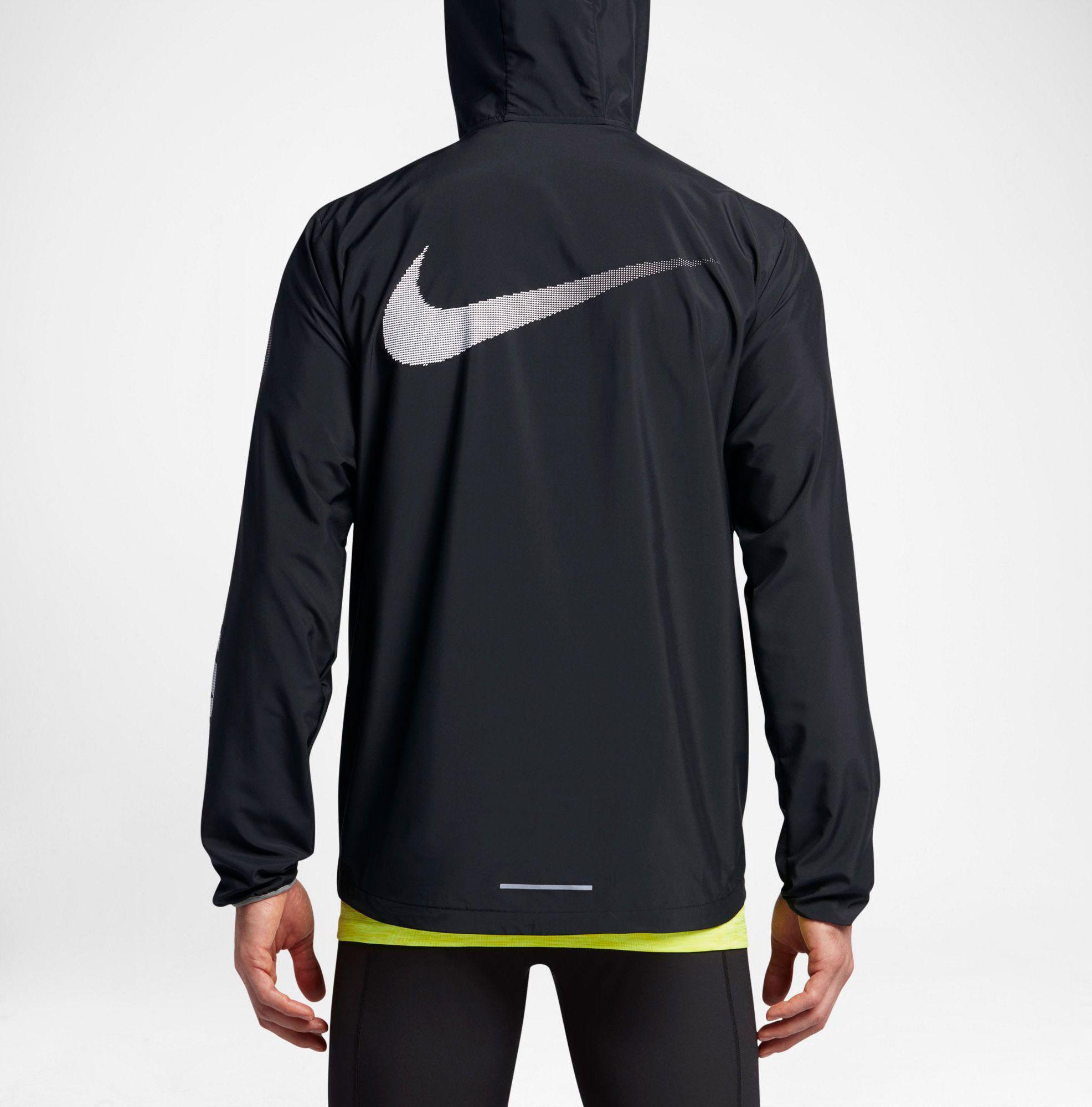 657997f30de72 Nike Black City Core Full Zip Running Jacket for men