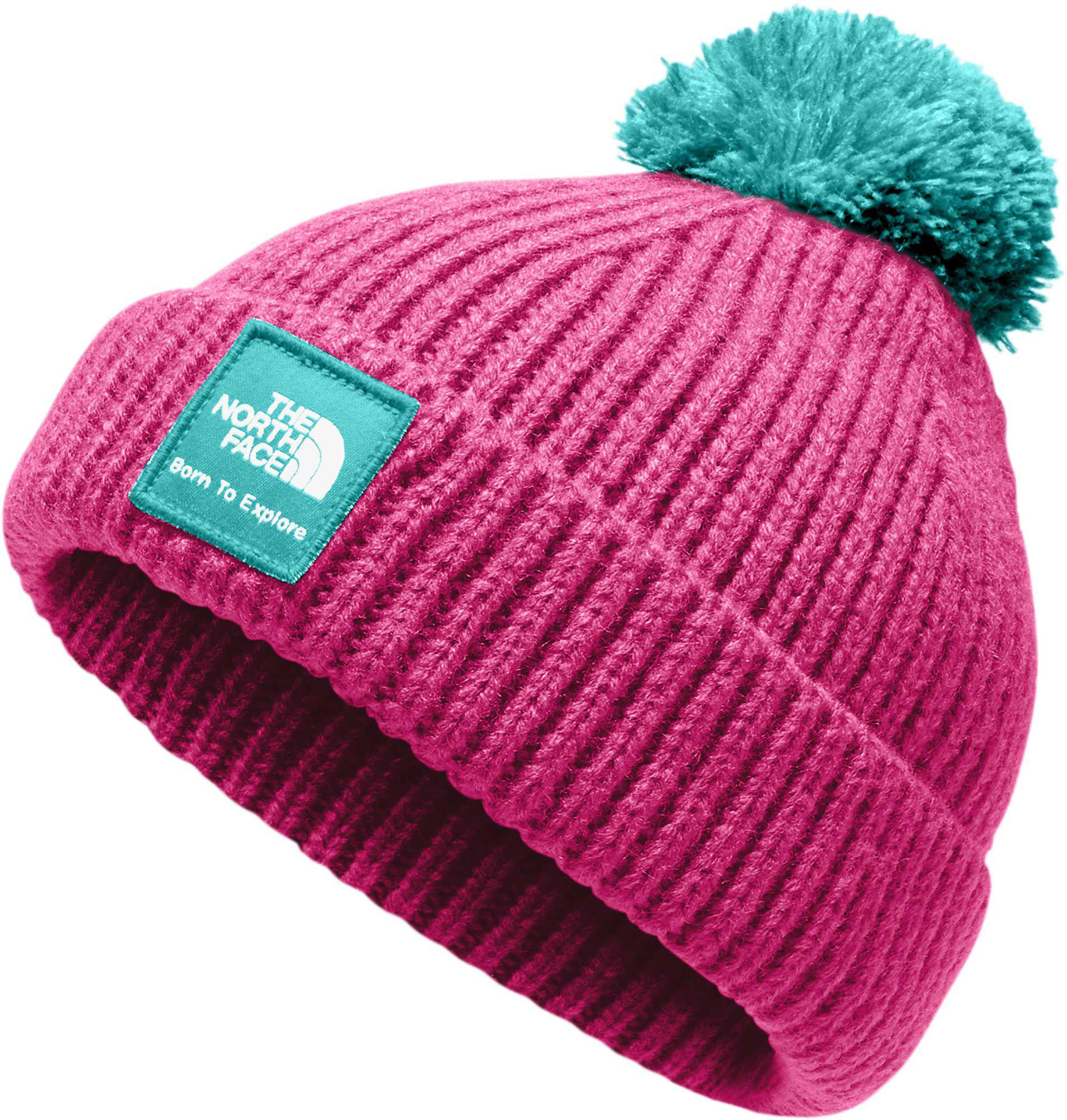 be39750cbb4 Lyst - The North Face Infant Baby Box Logo Pom Beanie in Pink