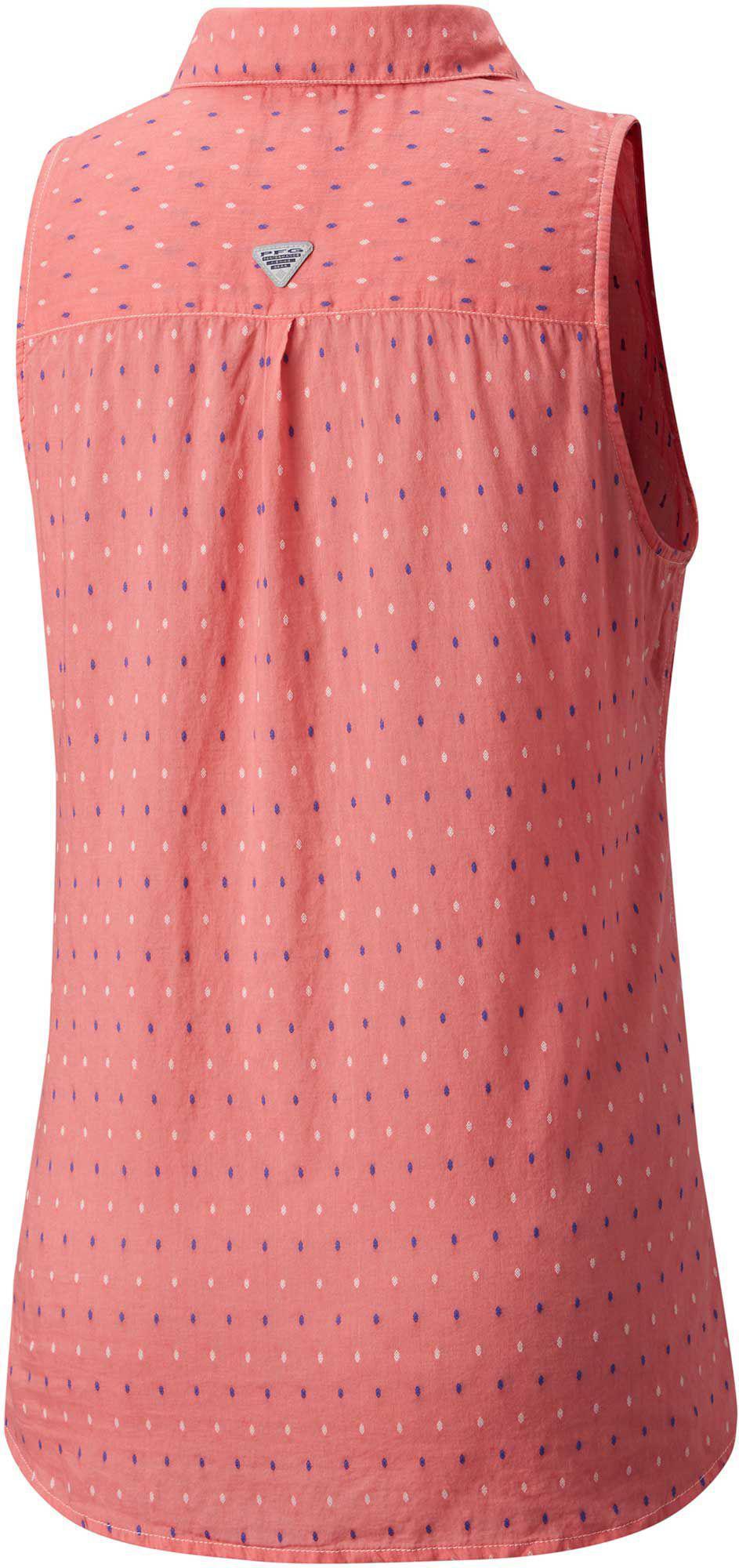 25b9e22d9d6920 Columbia - Pink Pfg Sun Drifter Sleeveless Shirt - Lyst. View fullscreen