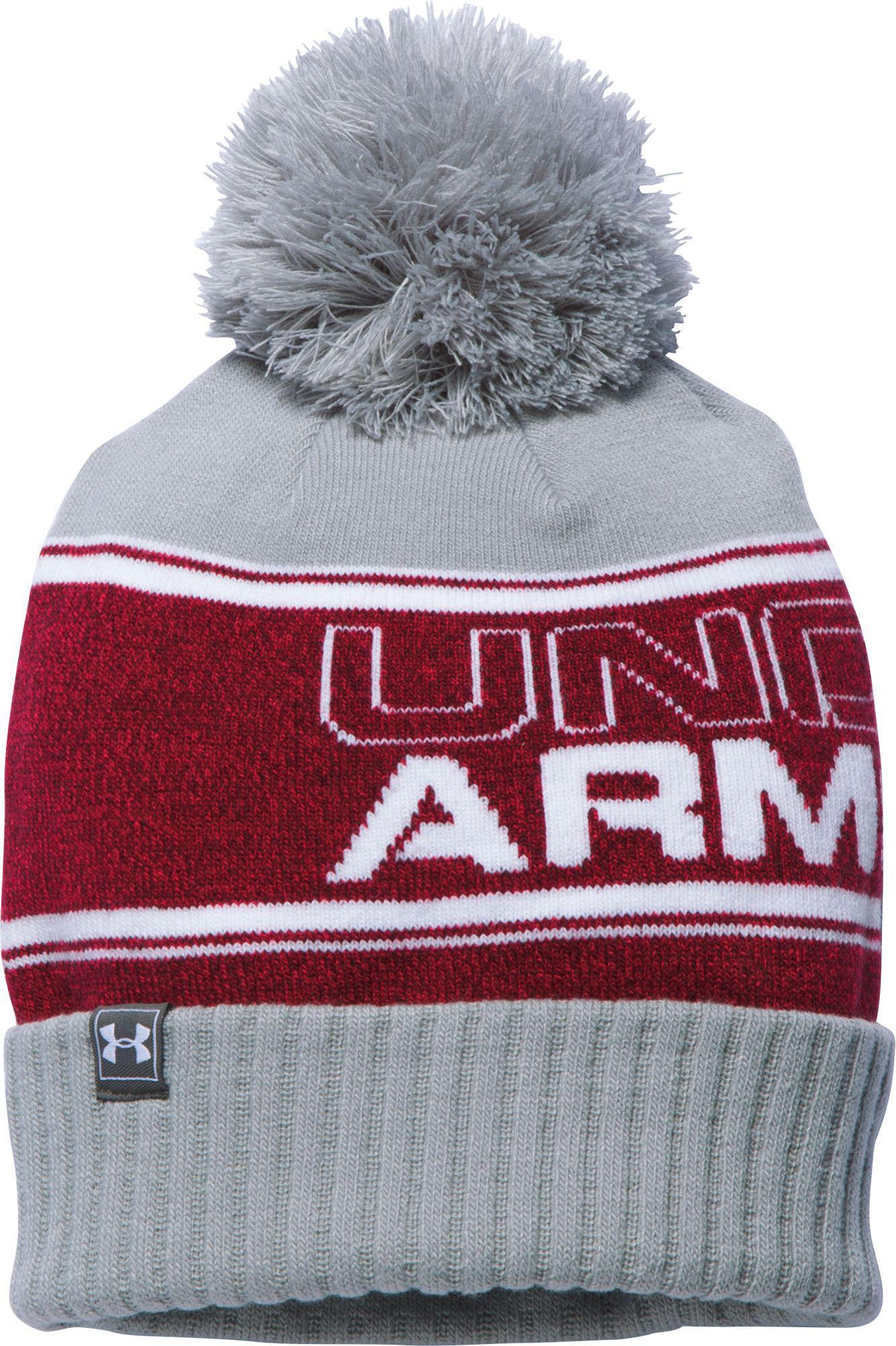 5e314f75ed Lyst - Under Armour Pom Beanie in Red for Men