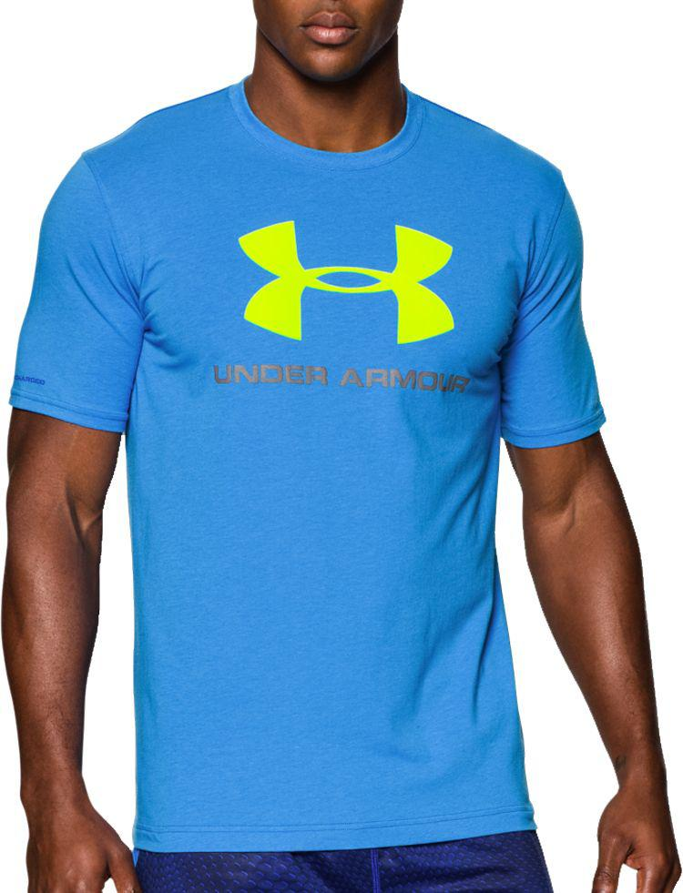 dcf4ad5a Under Armour - Blue Charged Cotton Sportstyle Logo T-shirt for Men - Lyst