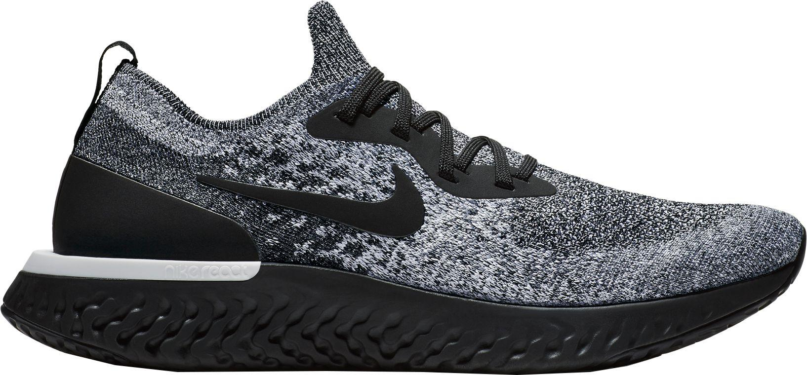 9b1dd87b3bb Nike Black Epic React Flyknit Running Shoes for men