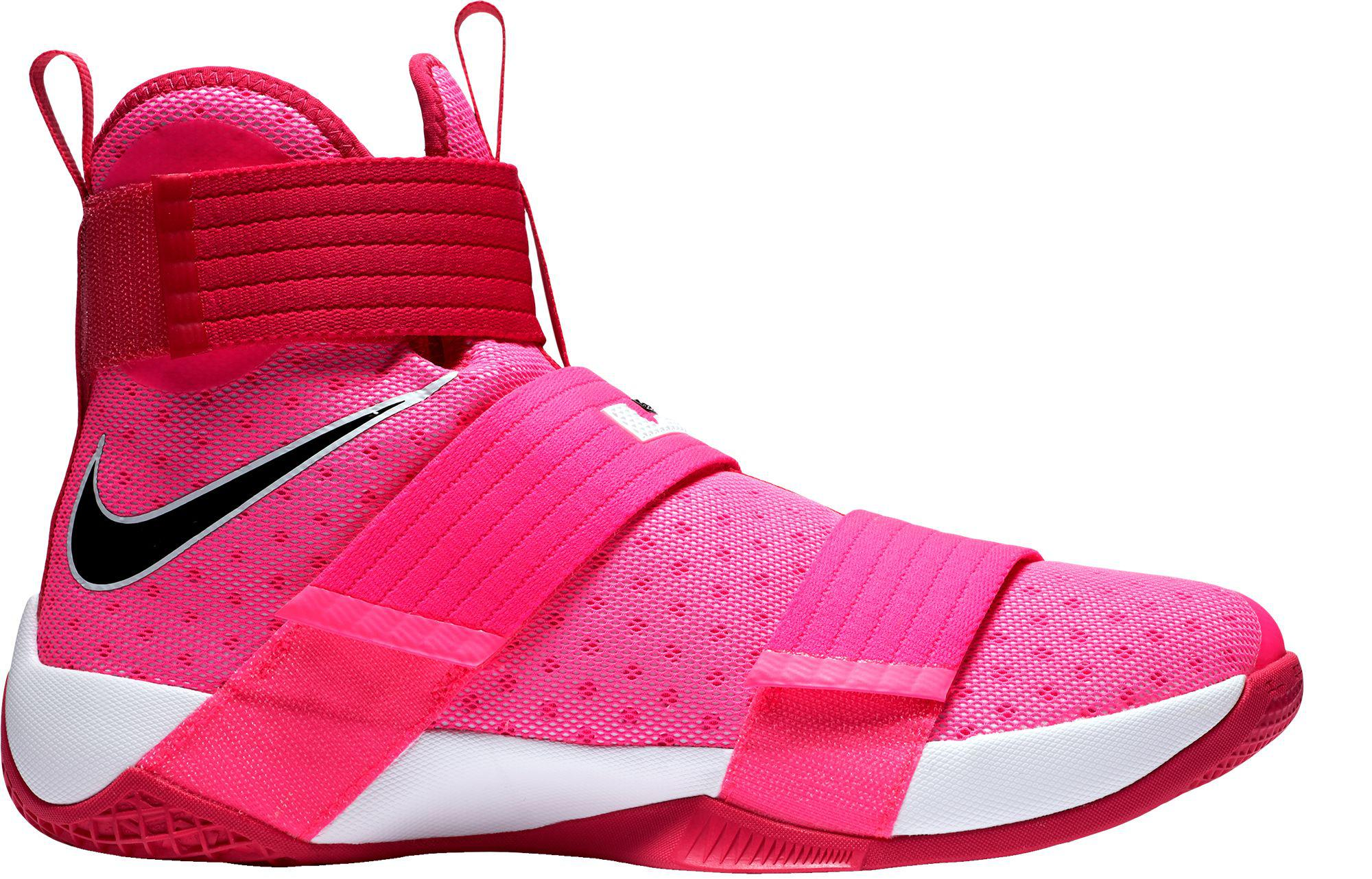 low priced b3e1f c2f87 Nike Pink Zoom Lebron Soldier X Basketball Shoes for men