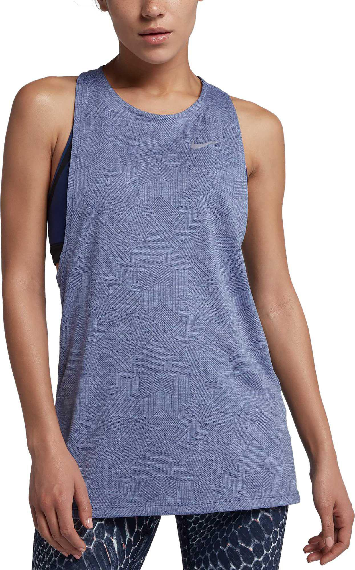 e4fae81a30413d Lyst - Nike Dry Medalist Running Tank Top in Blue