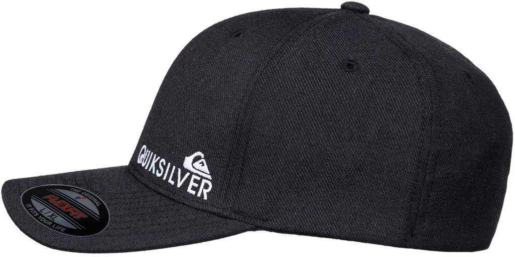 ... top quality lyst quiksilver sidestay hdwr flexfit hat in black for men  1a4e8 a75da ... fcd976a545f6